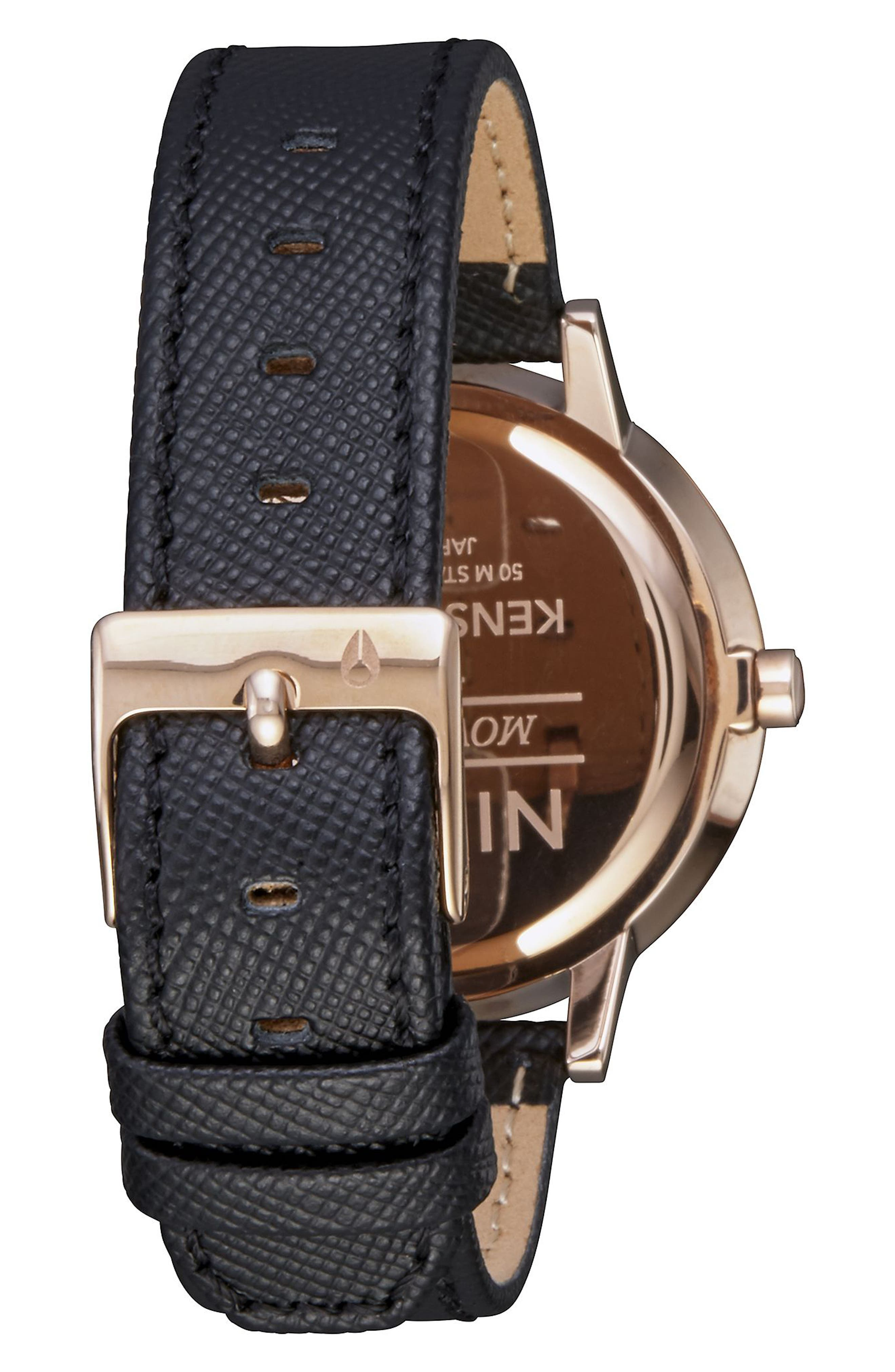 'The Kensington' Leather Strap Watch, 37mm,                             Alternate thumbnail 22, color,