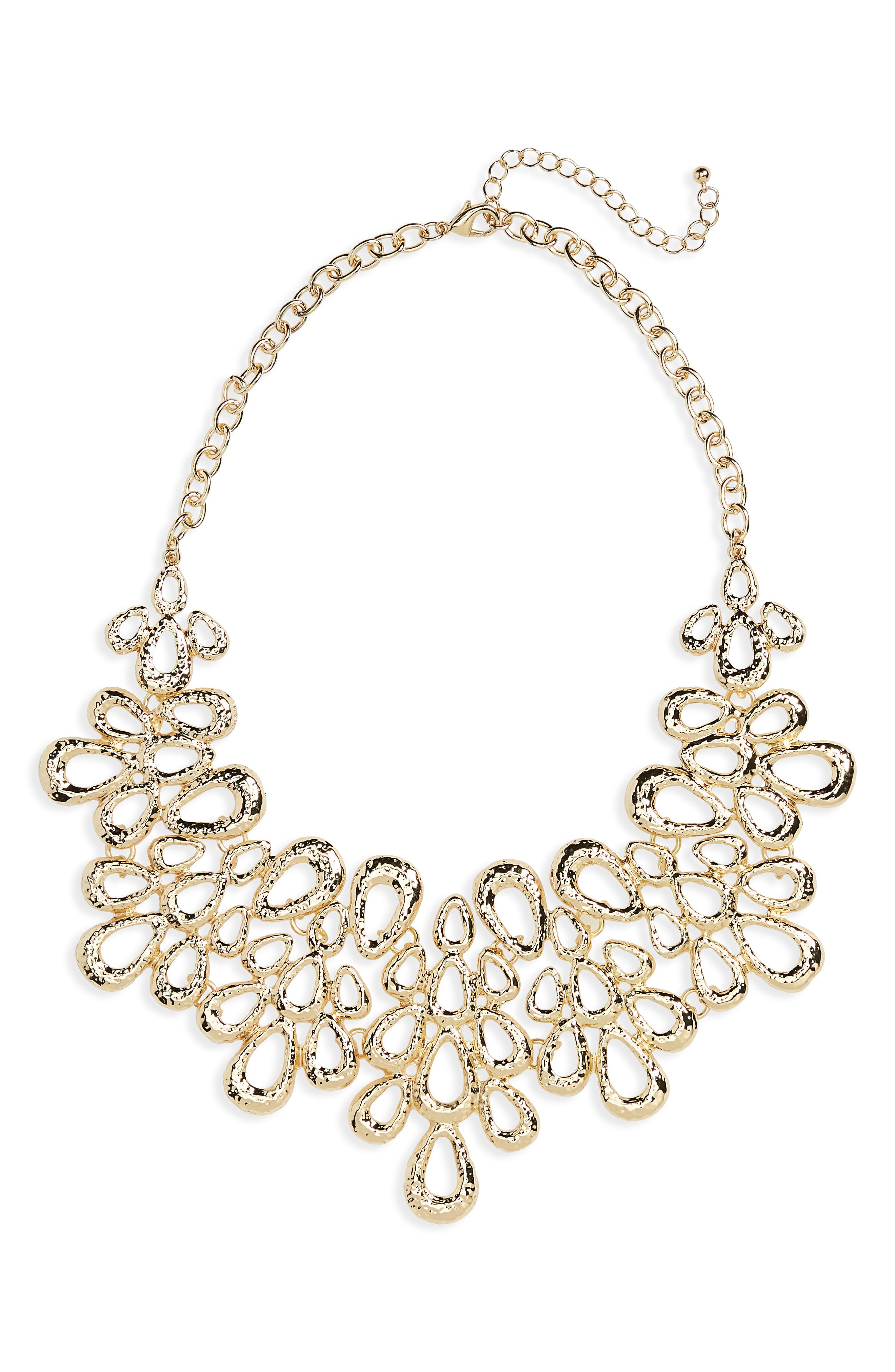 Petal Statement Necklace,                             Main thumbnail 1, color,