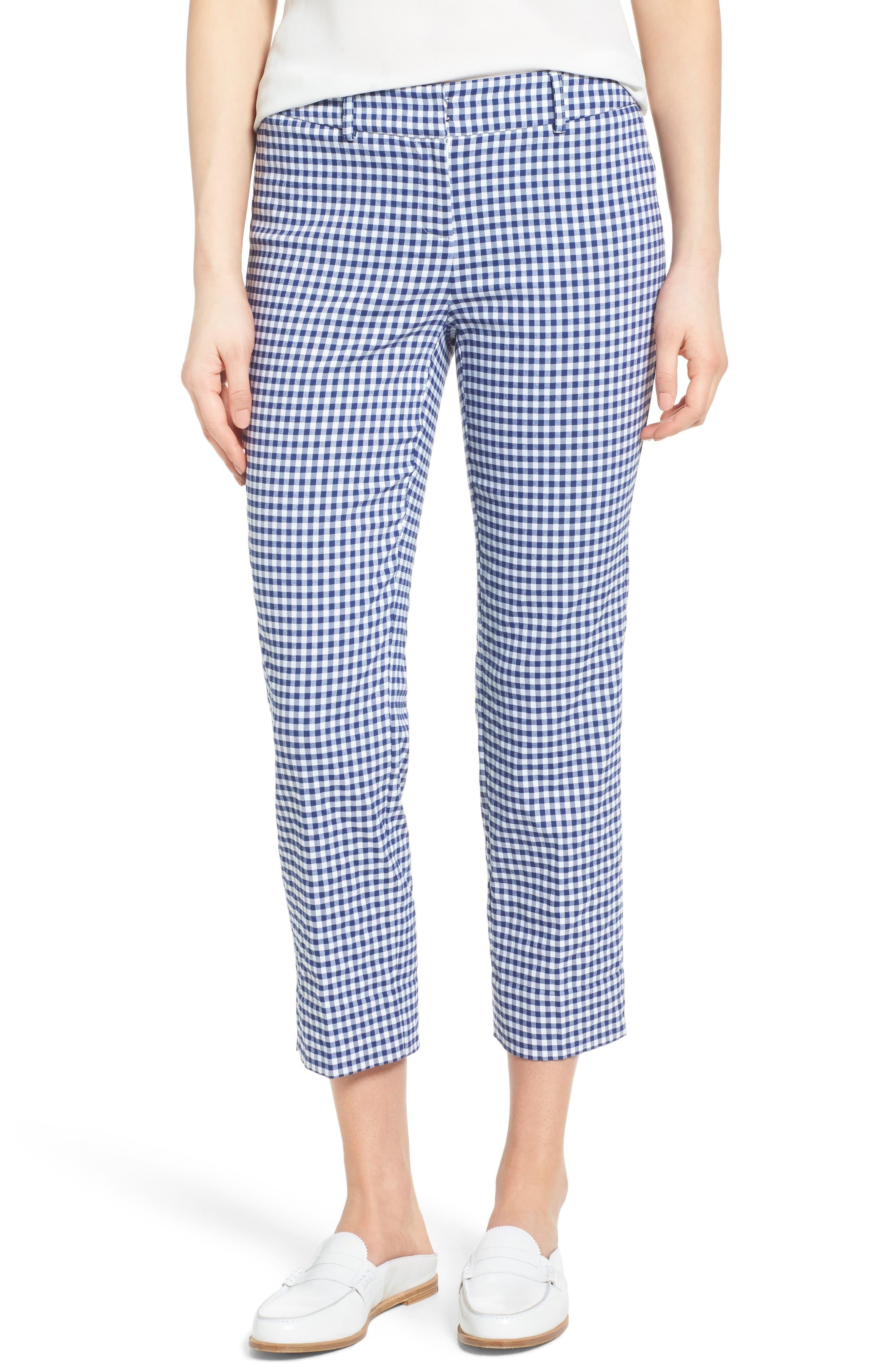 Crop Stretch Cotton Pants,                             Main thumbnail 14, color,