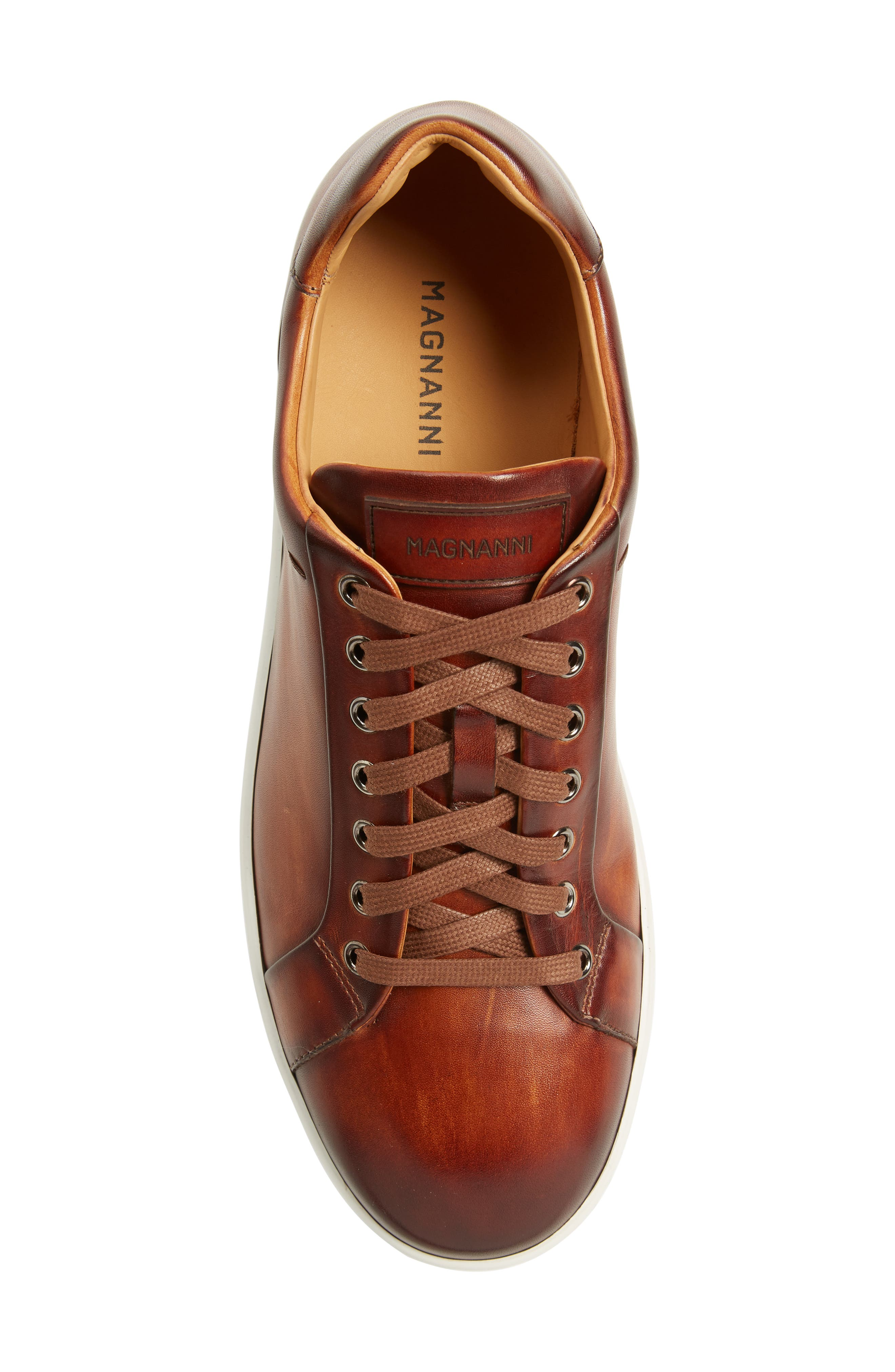 Elonso Low Top Sneaker,                             Alternate thumbnail 5, color,                             COGNAC LEATHER