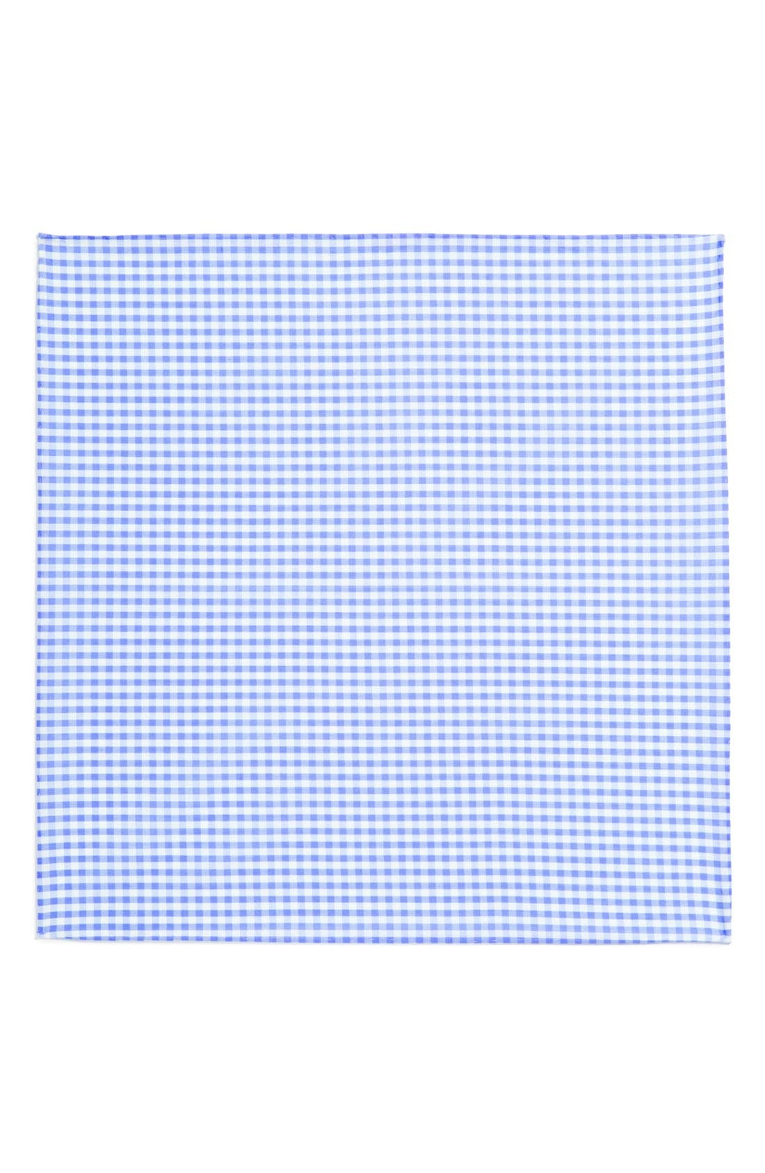 Cotton Gingham Pocket Square,                             Alternate thumbnail 8, color,