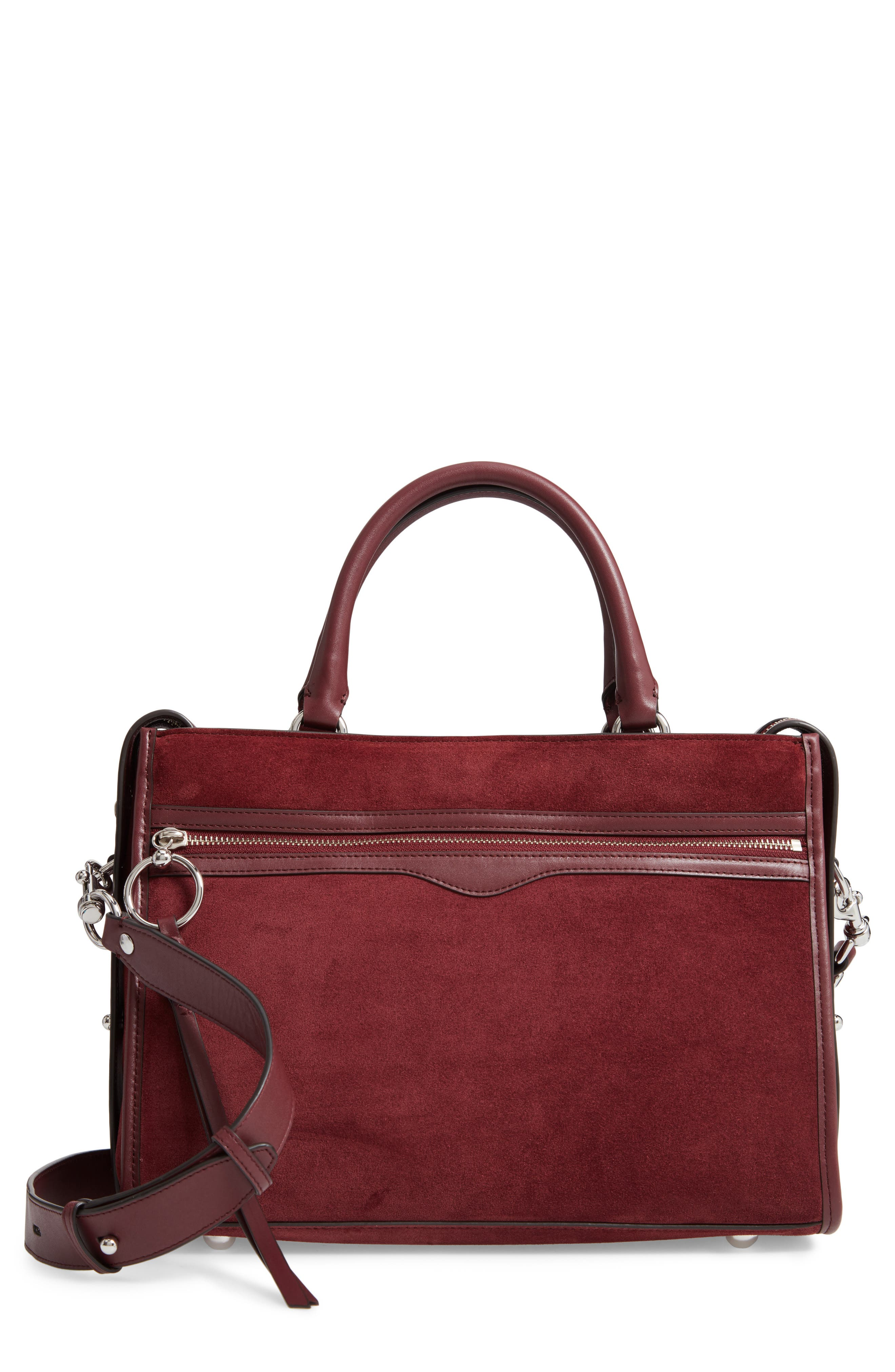 Bedford Suede Satchel,                             Main thumbnail 1, color,                             600