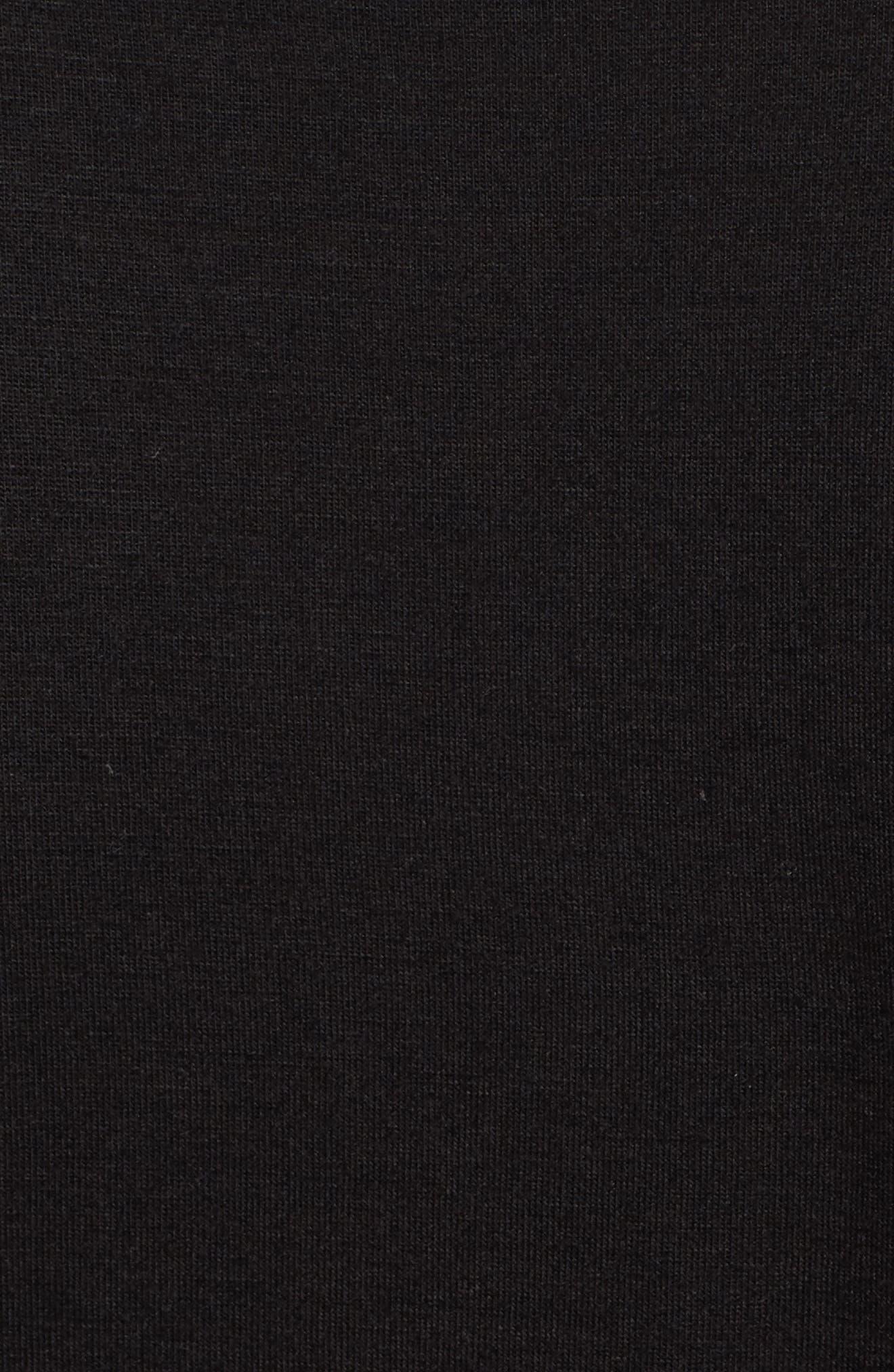 Cinch Sleeve Tee,                             Alternate thumbnail 5, color,                             001
