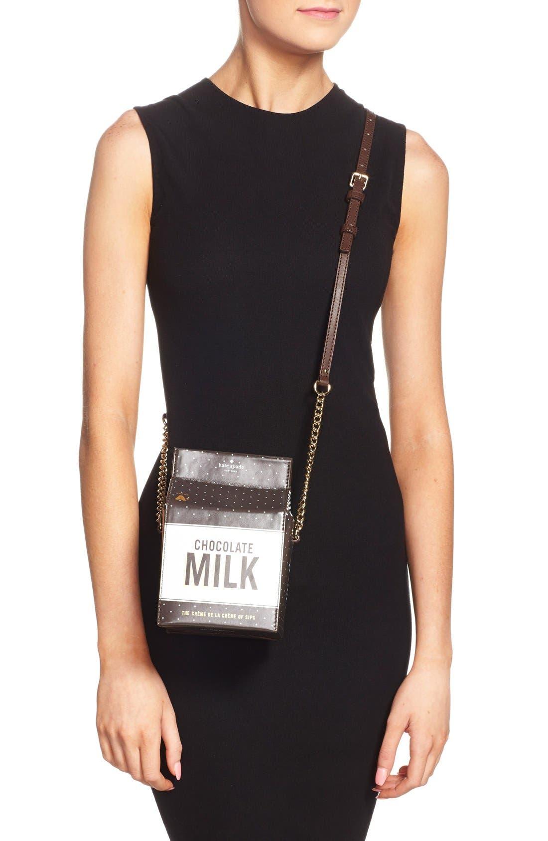 KATE SPADE NEW YORK,                             'de la crème' milk container crossbody bag,                             Alternate thumbnail 5, color,                             974