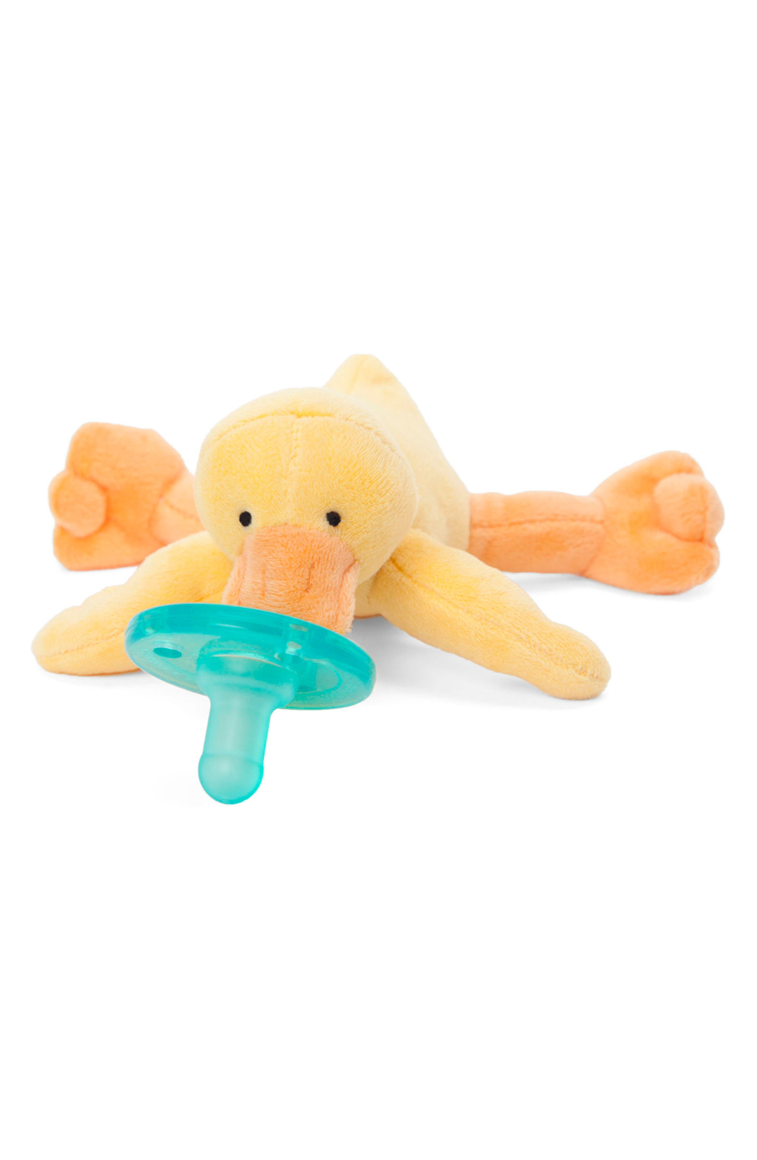 Baby Yellow Duck Pacifier Toy,                             Alternate thumbnail 3, color,                             700