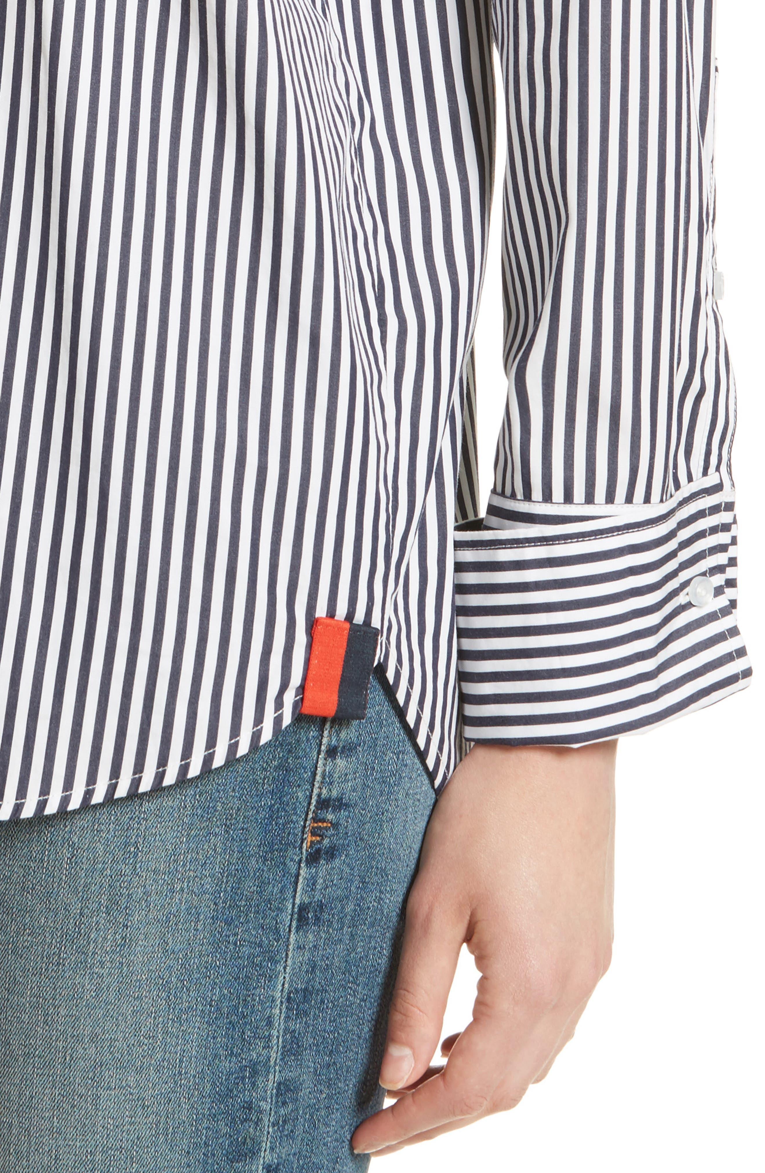 The Wallis Stripe Cotton Shirt,                             Alternate thumbnail 4, color,