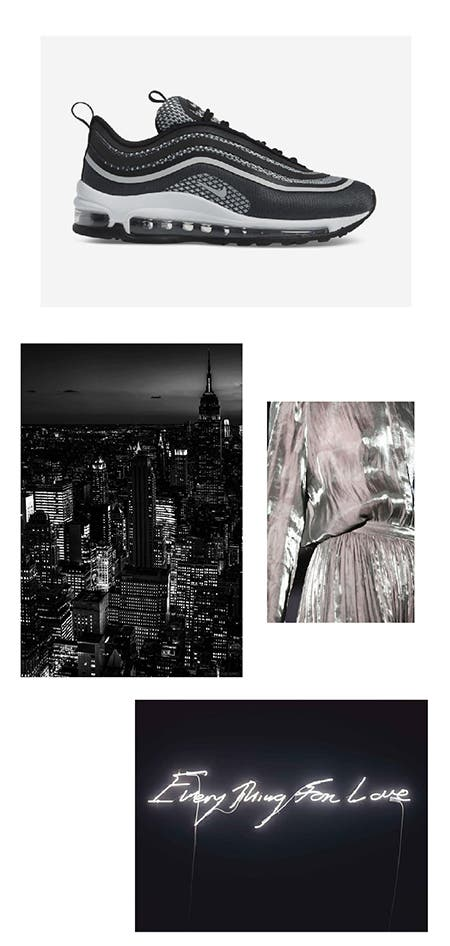 Nordstrom x Nike moodboard: city lights.