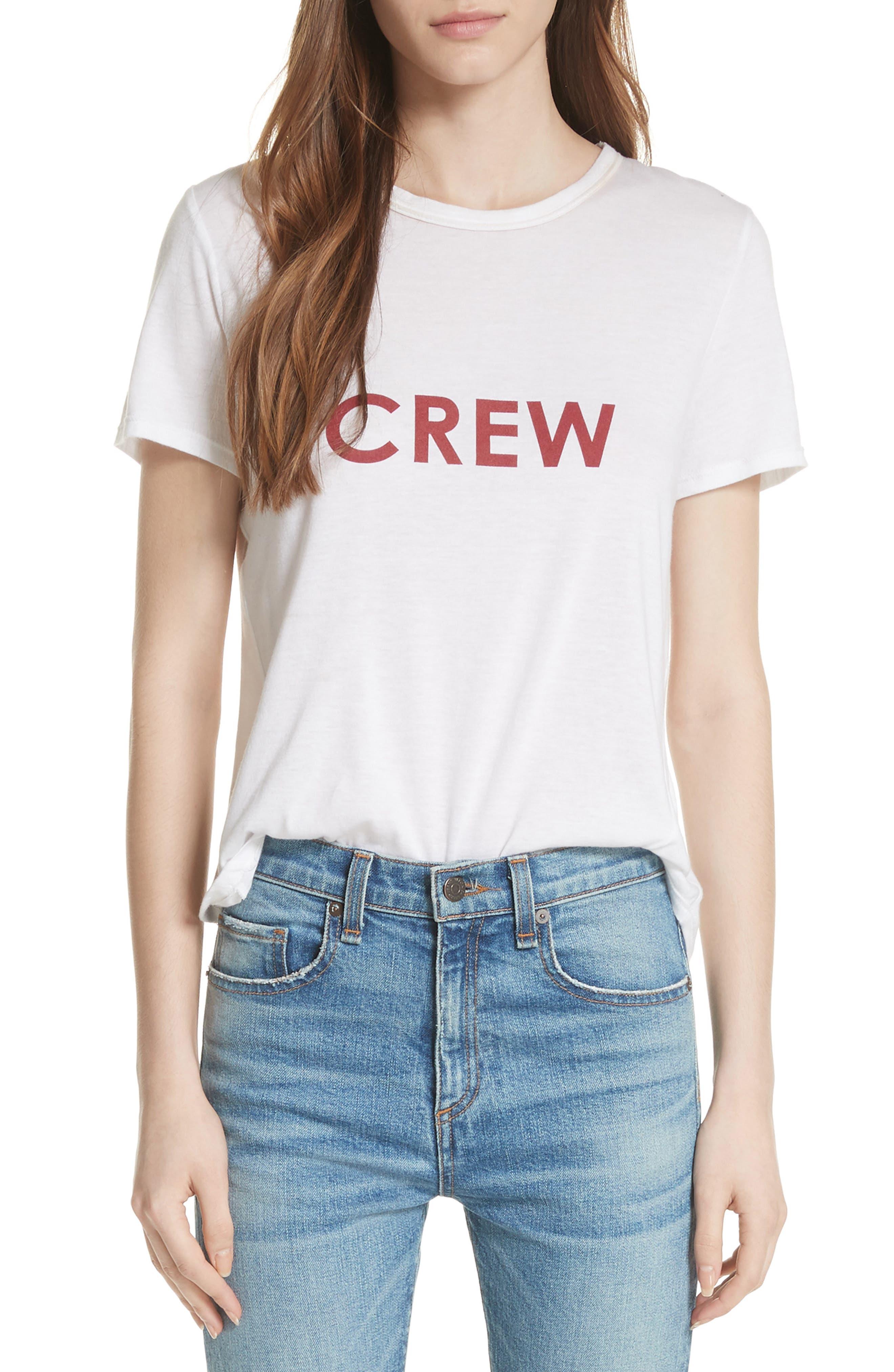 Lauren Crew Tee,                         Main,                         color, 105