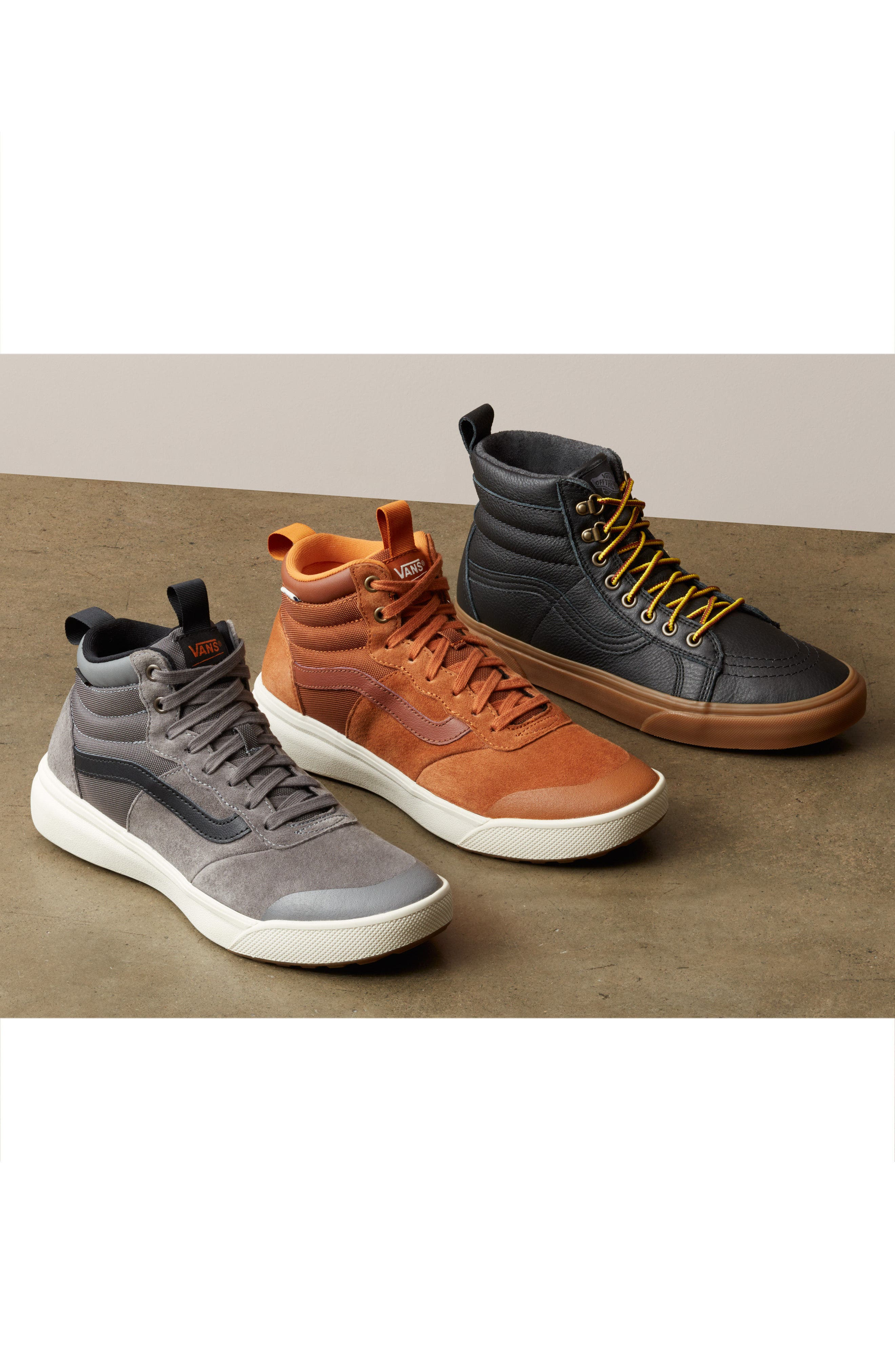 SK8-Hi MTE Insulated Water Resistant Sneaker,                             Alternate thumbnail 8, color,                             001