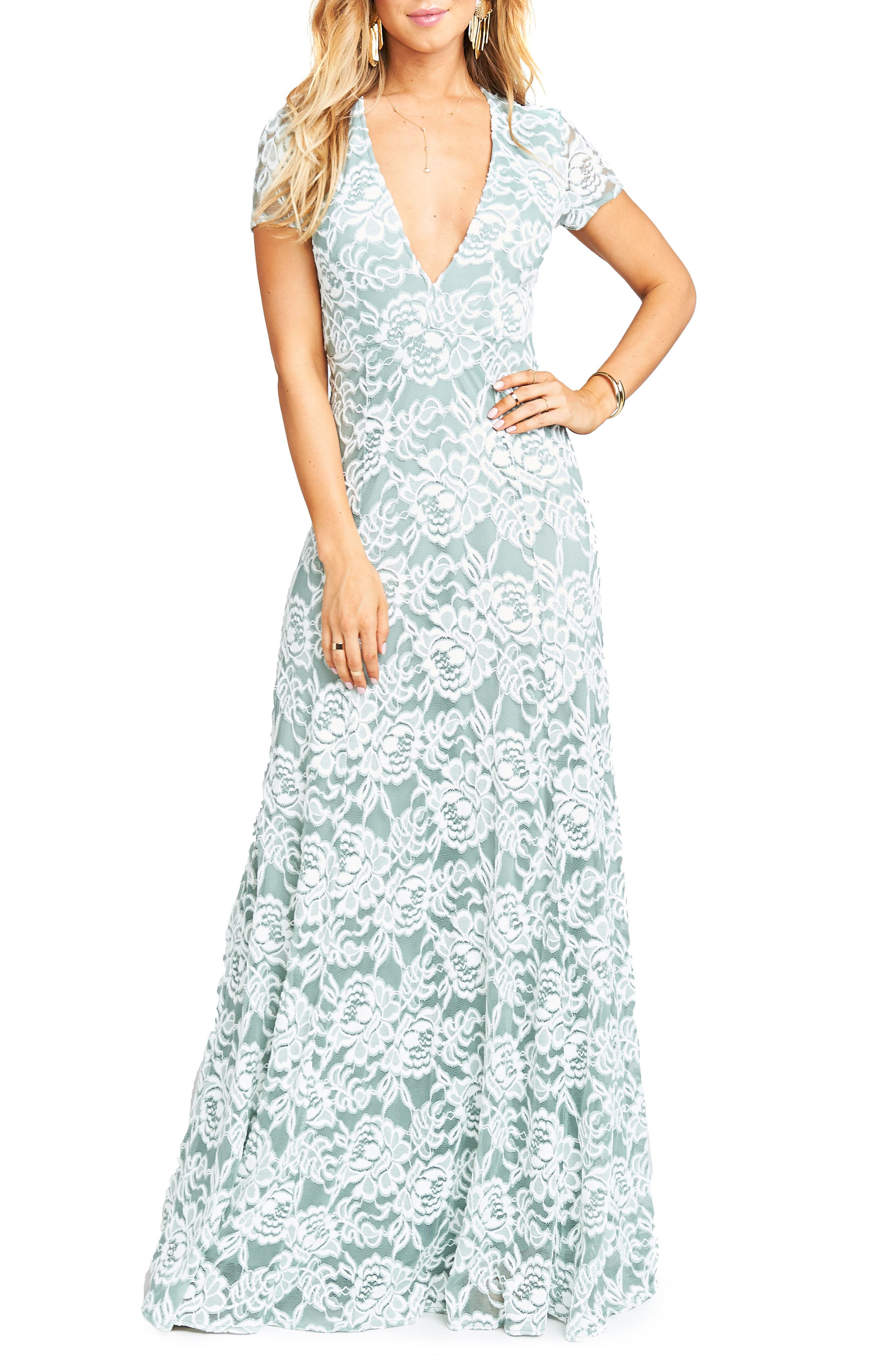 Eleanor Lace Gown,                         Main,                         color, 030