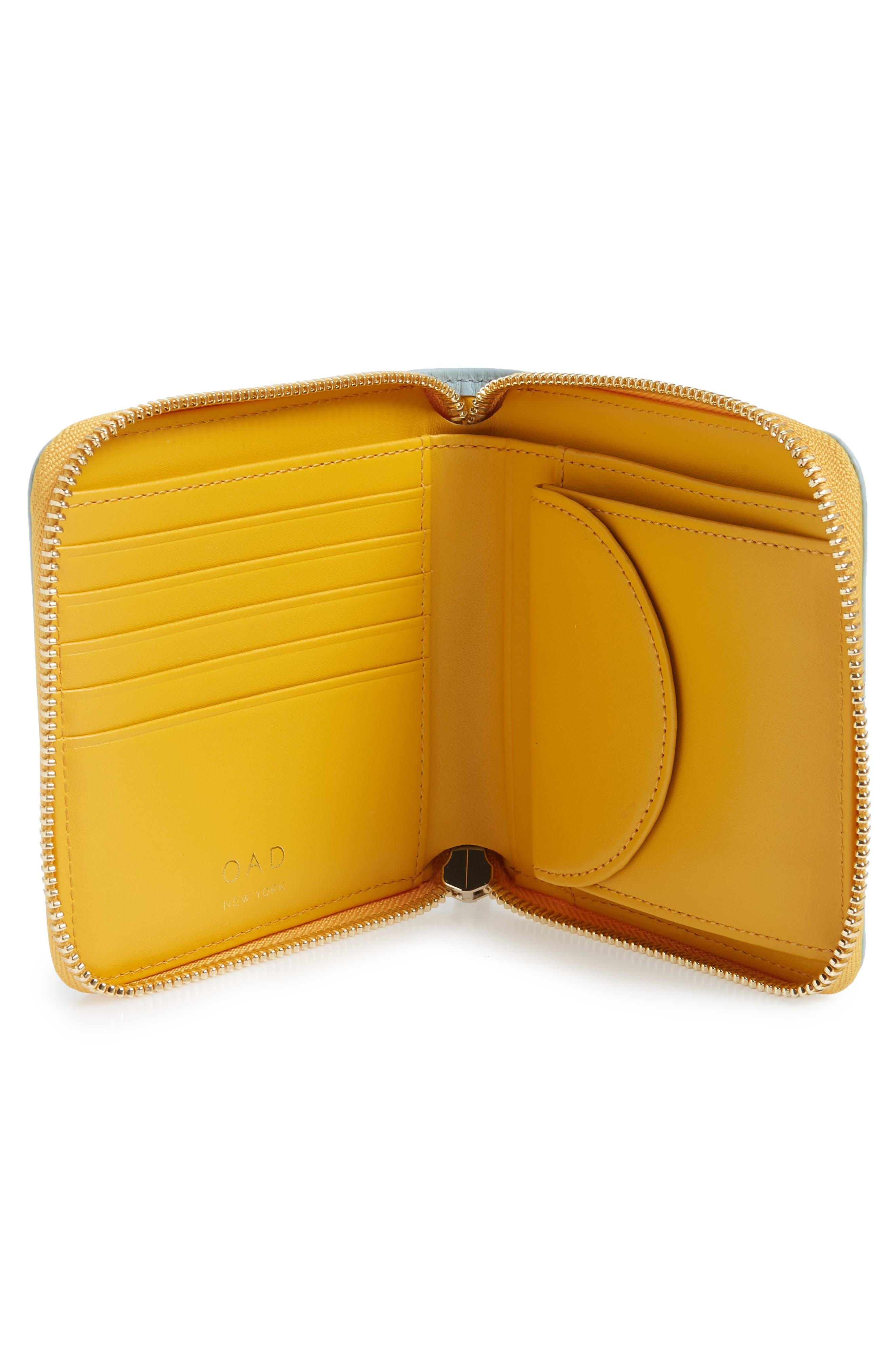 Half Zip Carryall Wallet,                             Alternate thumbnail 2, color,                             CLOUD BLUE/ HONEY