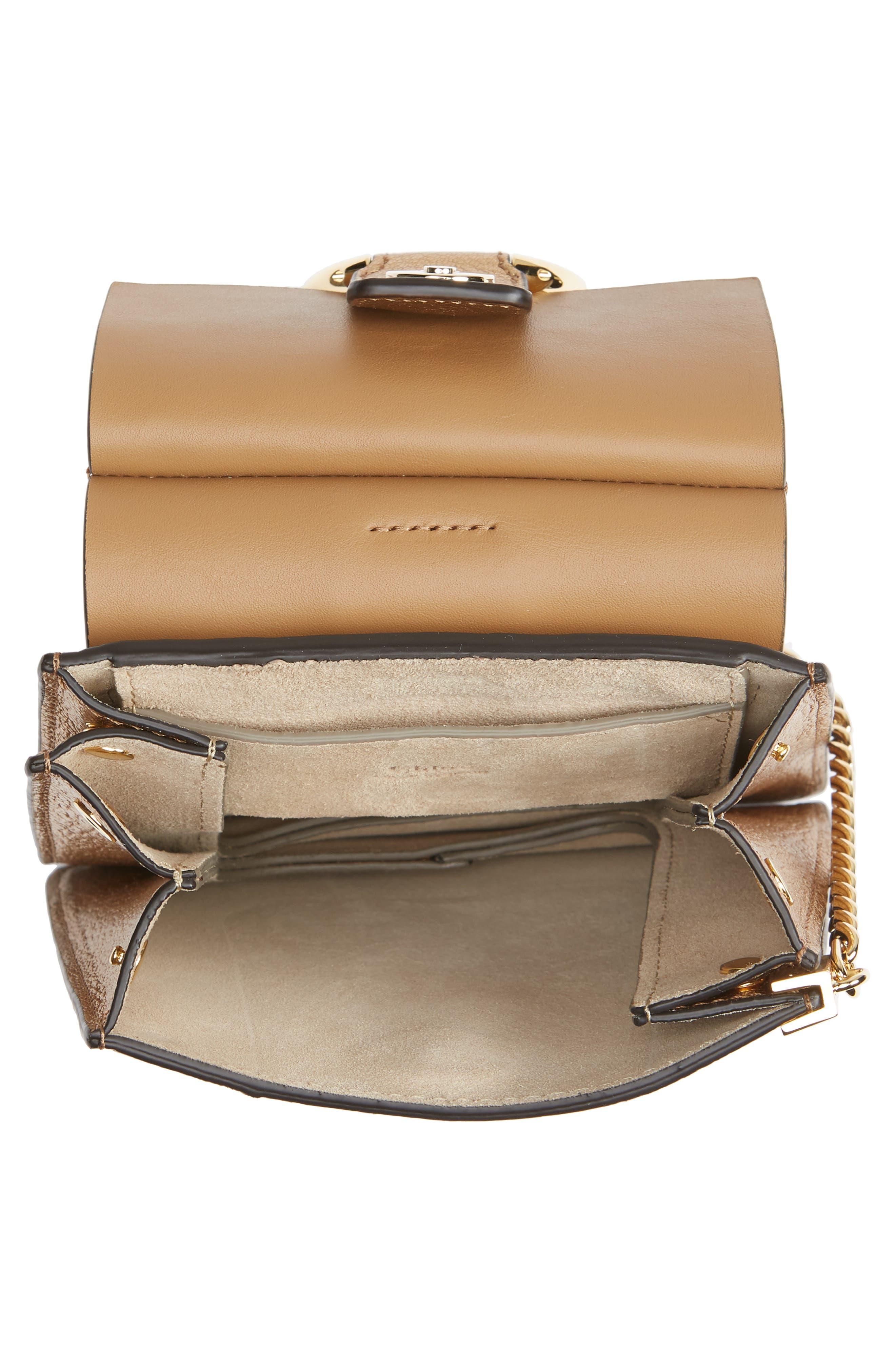 Faye Small Metallic Leather Bracelet Bag,                             Alternate thumbnail 5, color,                             GOLD