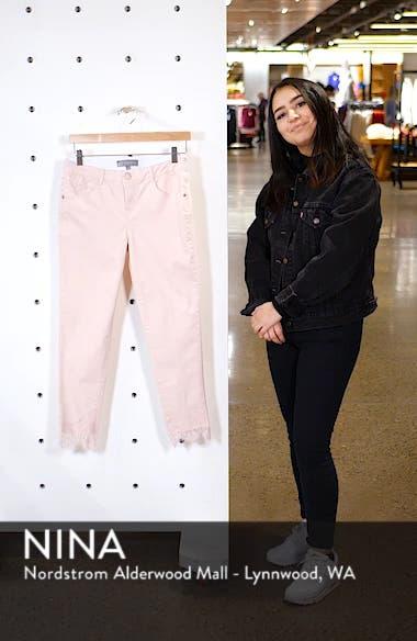Ab-Solution Lace Hem Ankle Skinny Pants, sales video thumbnail