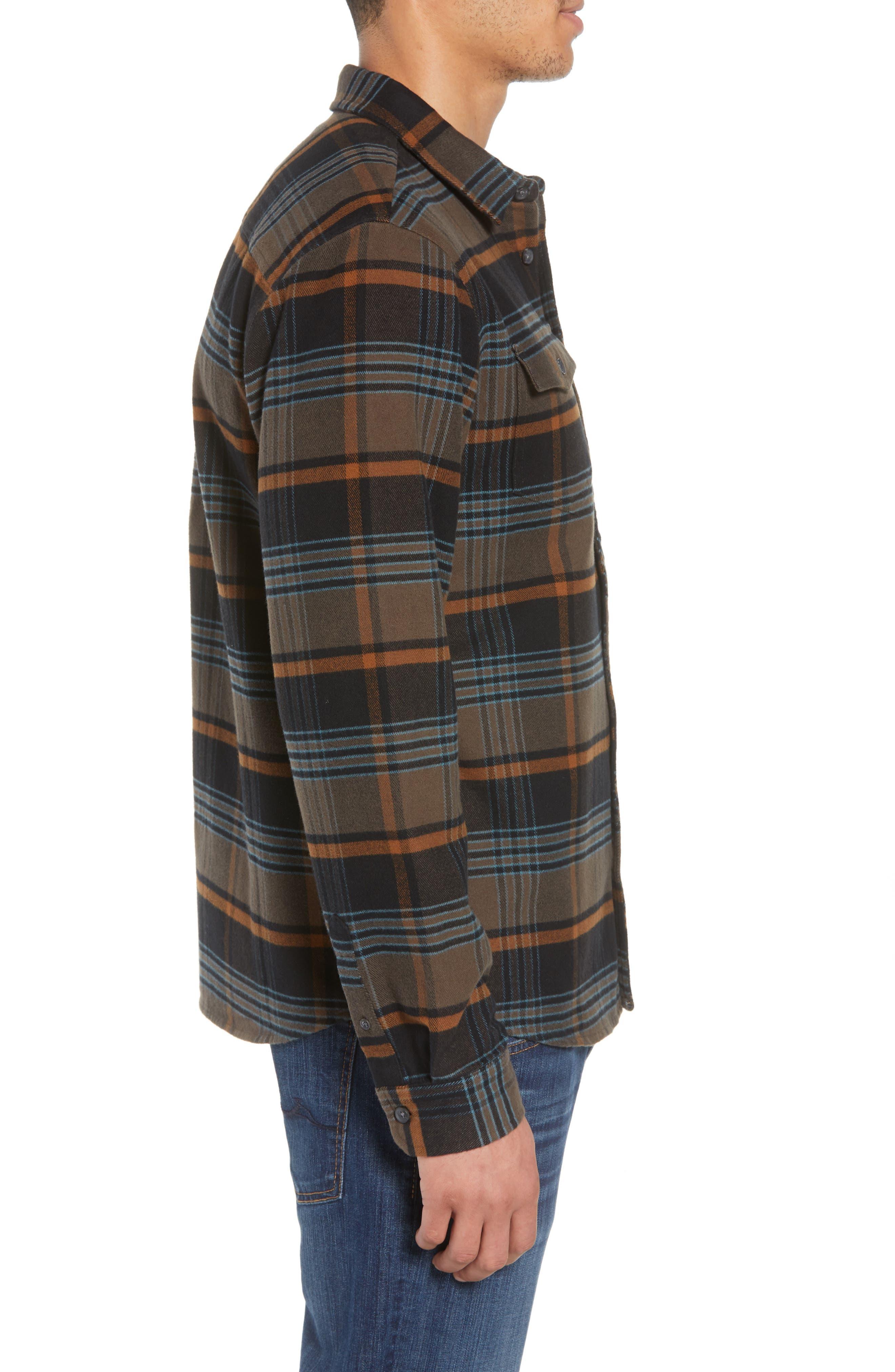 Ridgemont Flannel Shirt,                             Alternate thumbnail 3, color,                             216