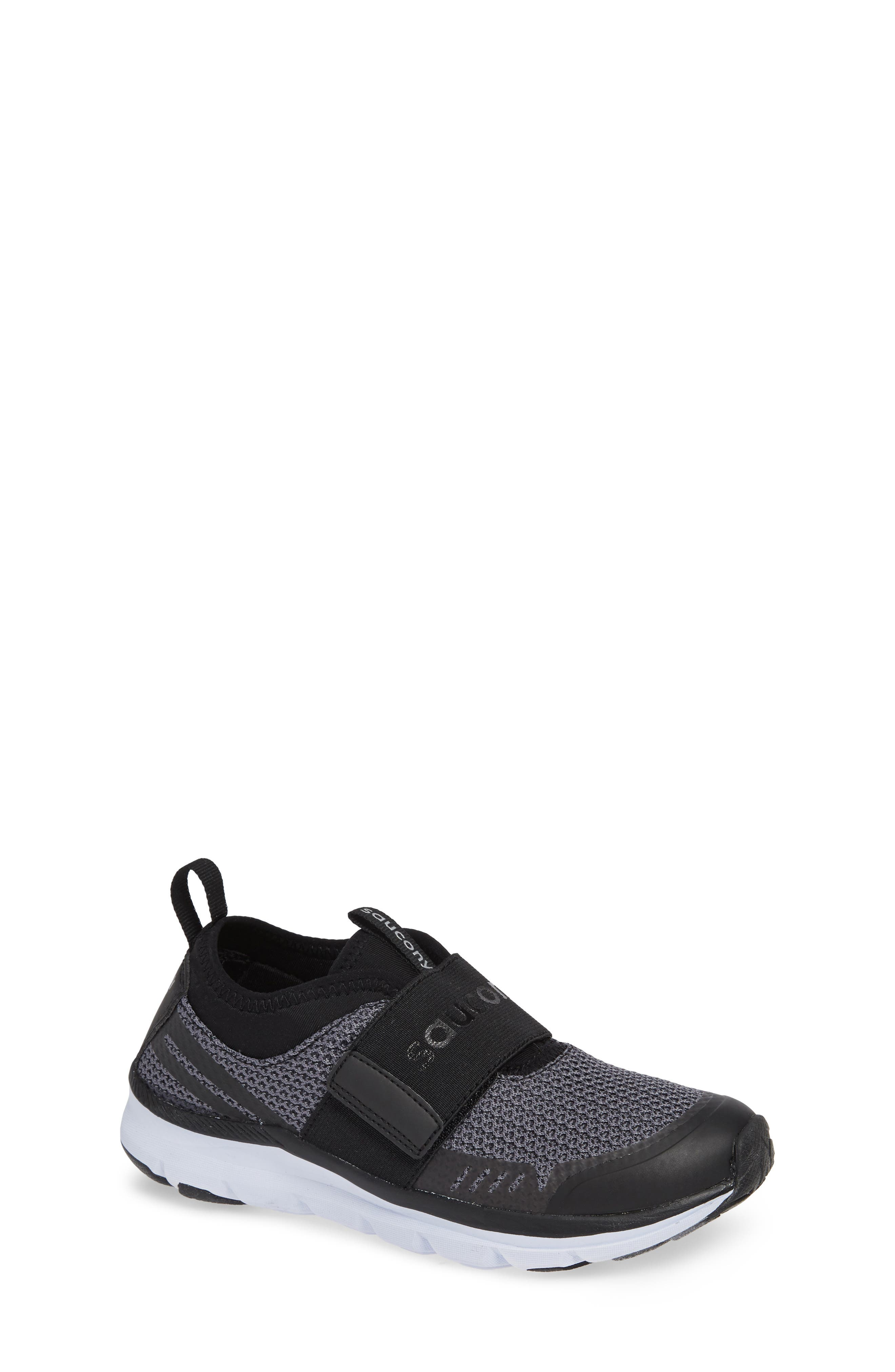 Liteform Stretch and Go A/C Sneaker,                             Main thumbnail 1, color,                             BLACK TEXTILE