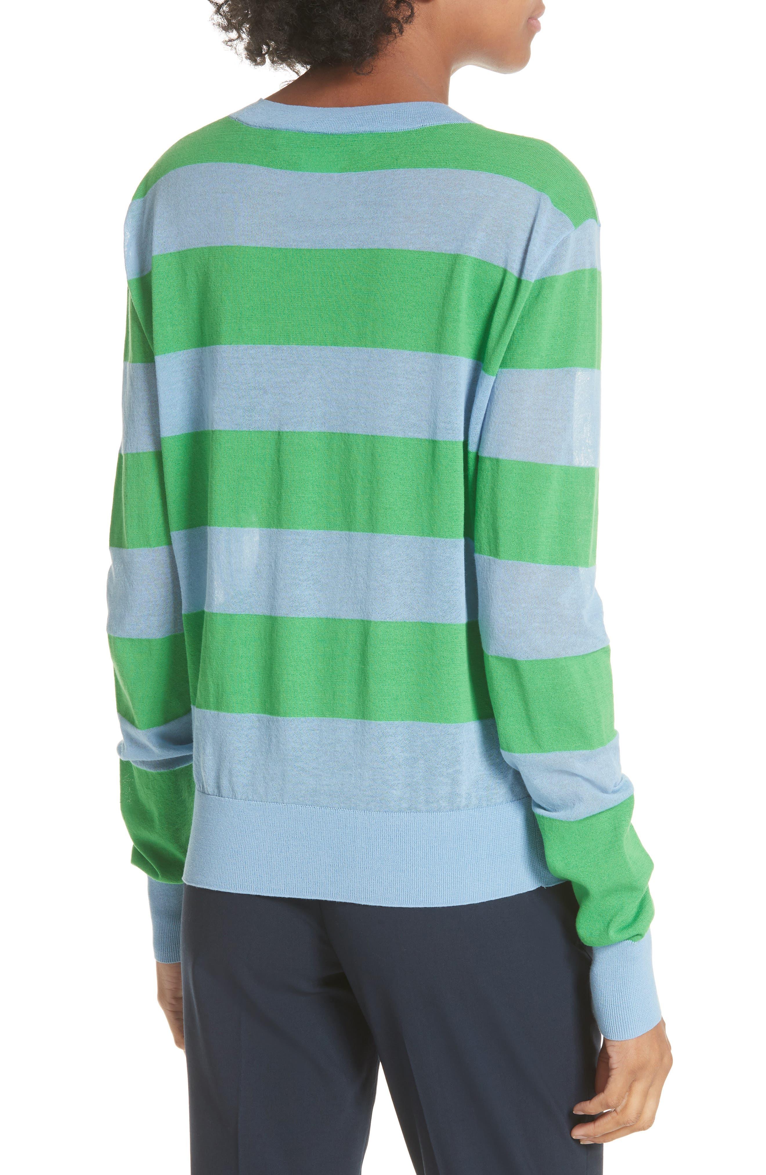 Diane von Furstenberg Colorblock Stripe Sweater,                             Alternate thumbnail 2, color,                             415
