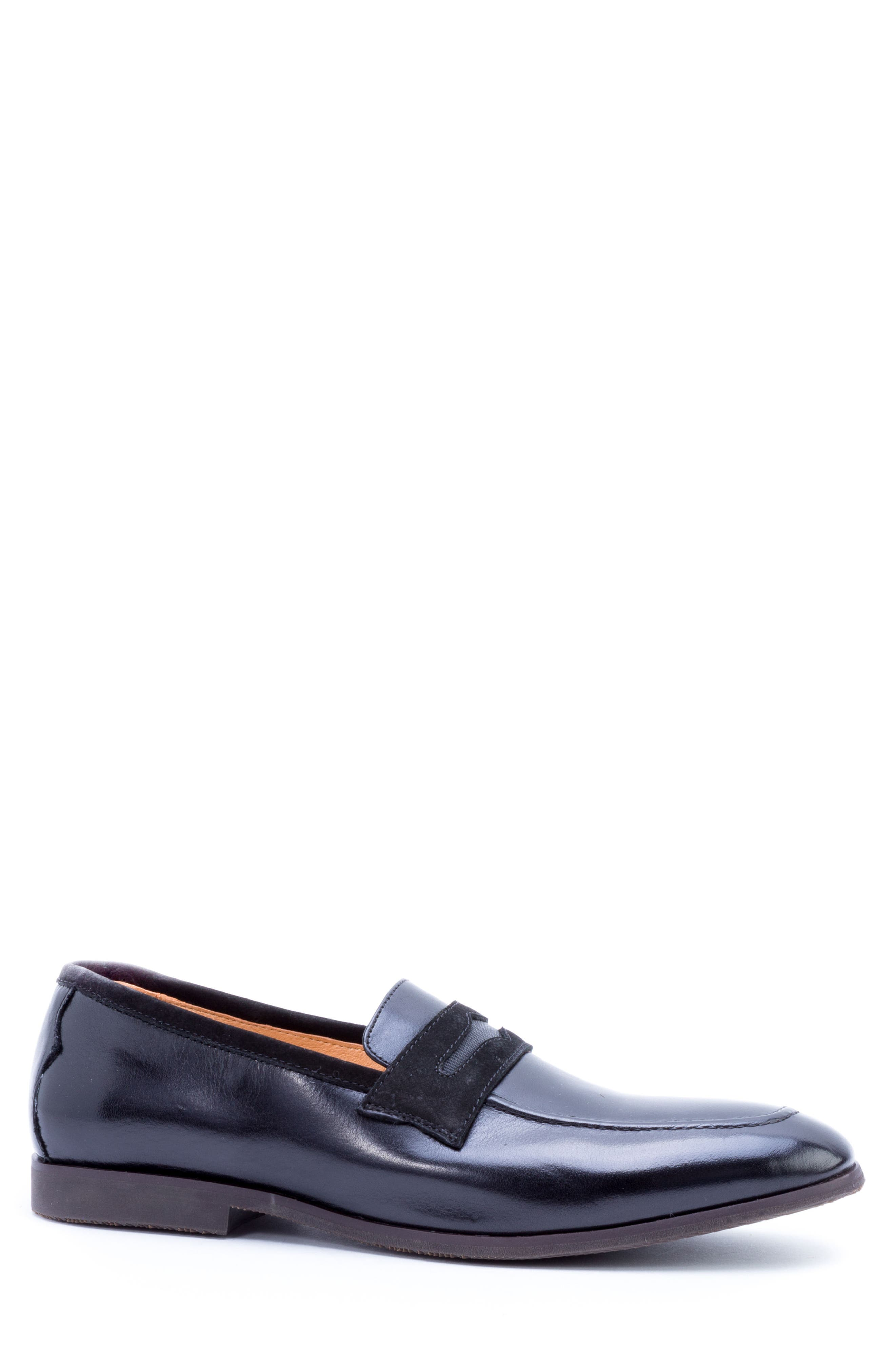 Apron Toe Penny Loafer,                             Alternate thumbnail 3, color,                             001