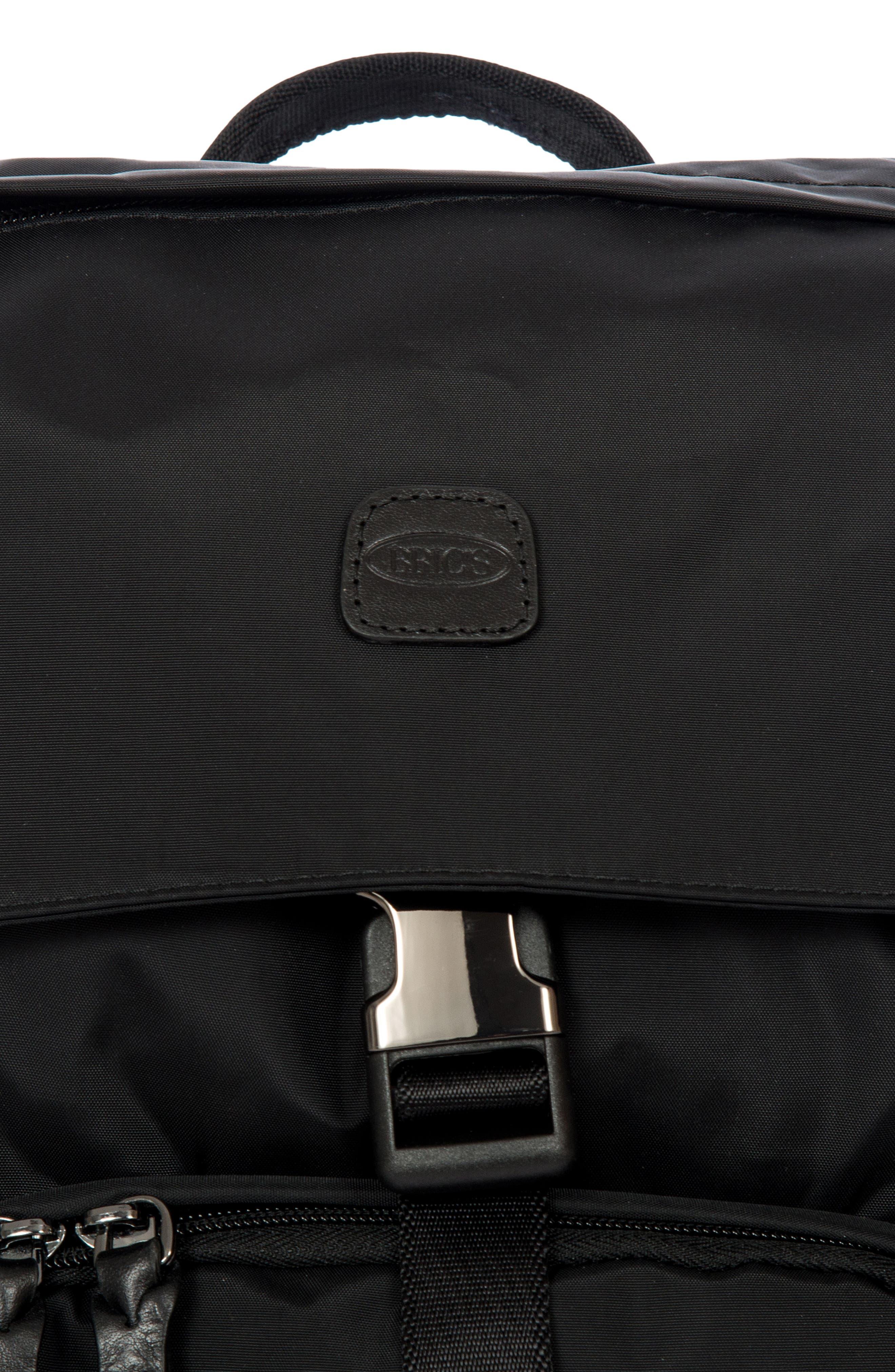 X-Bag Travel Excursion Backpack,                             Alternate thumbnail 5, color,                             BLACK/ BLACK