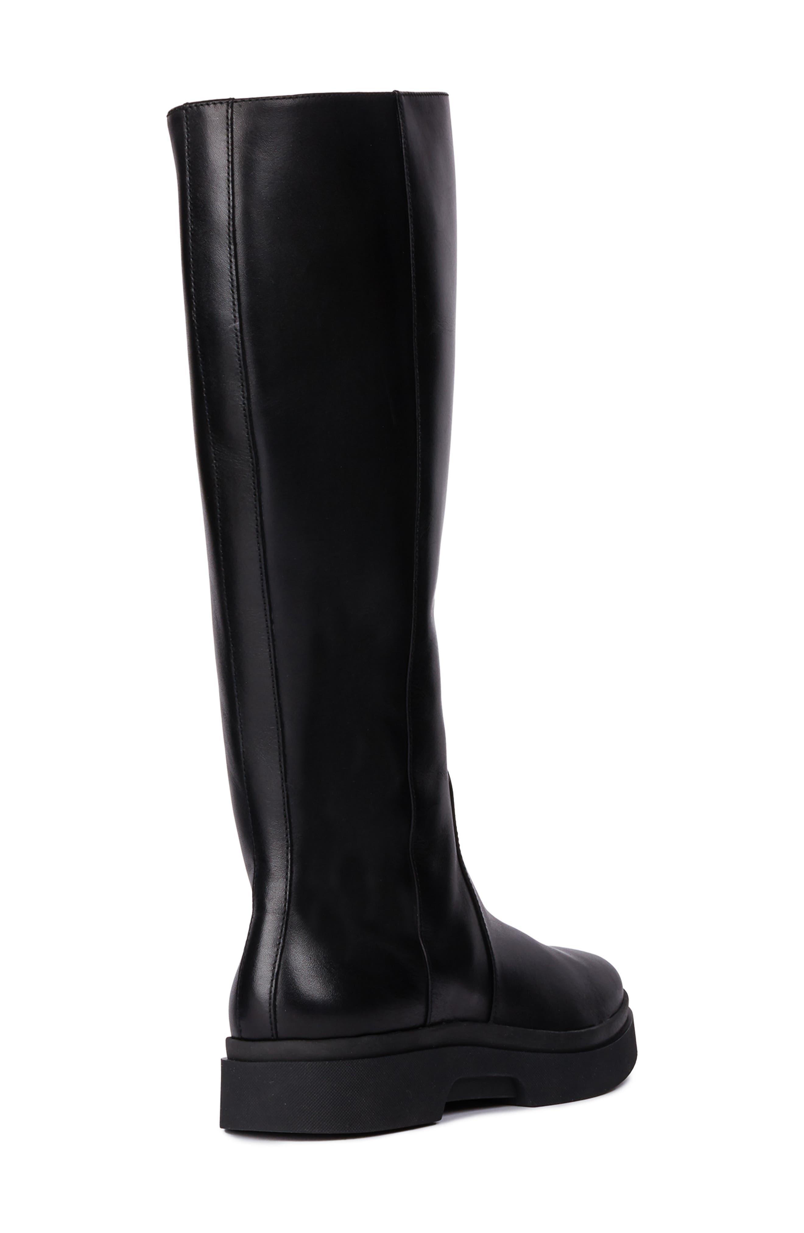 Myluse Knee High Platform Waterproof Boot,                             Alternate thumbnail 2, color,                             BLACK LEATHER