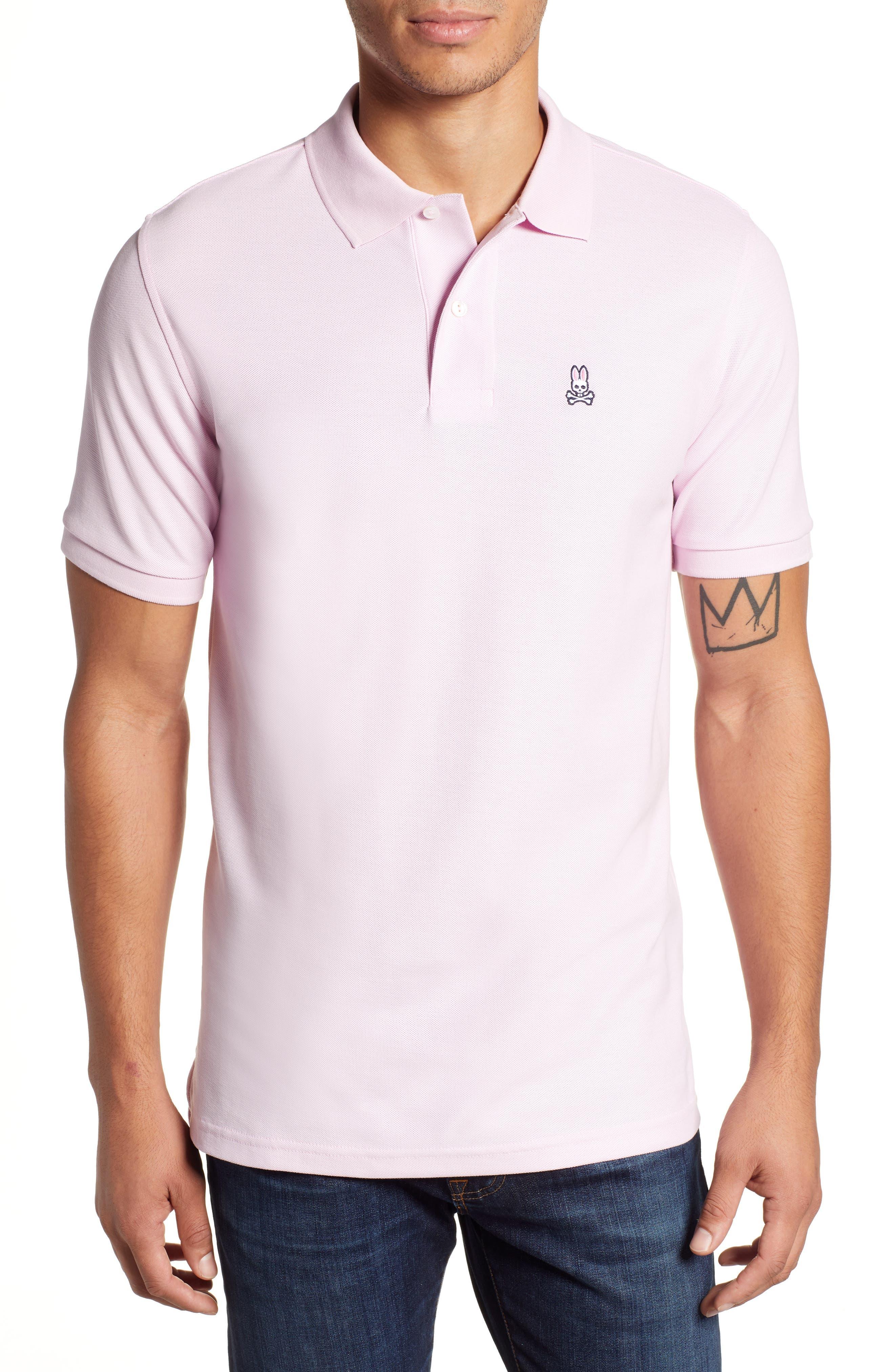 Psycho Bunny Classic Polo Shirt, Pink