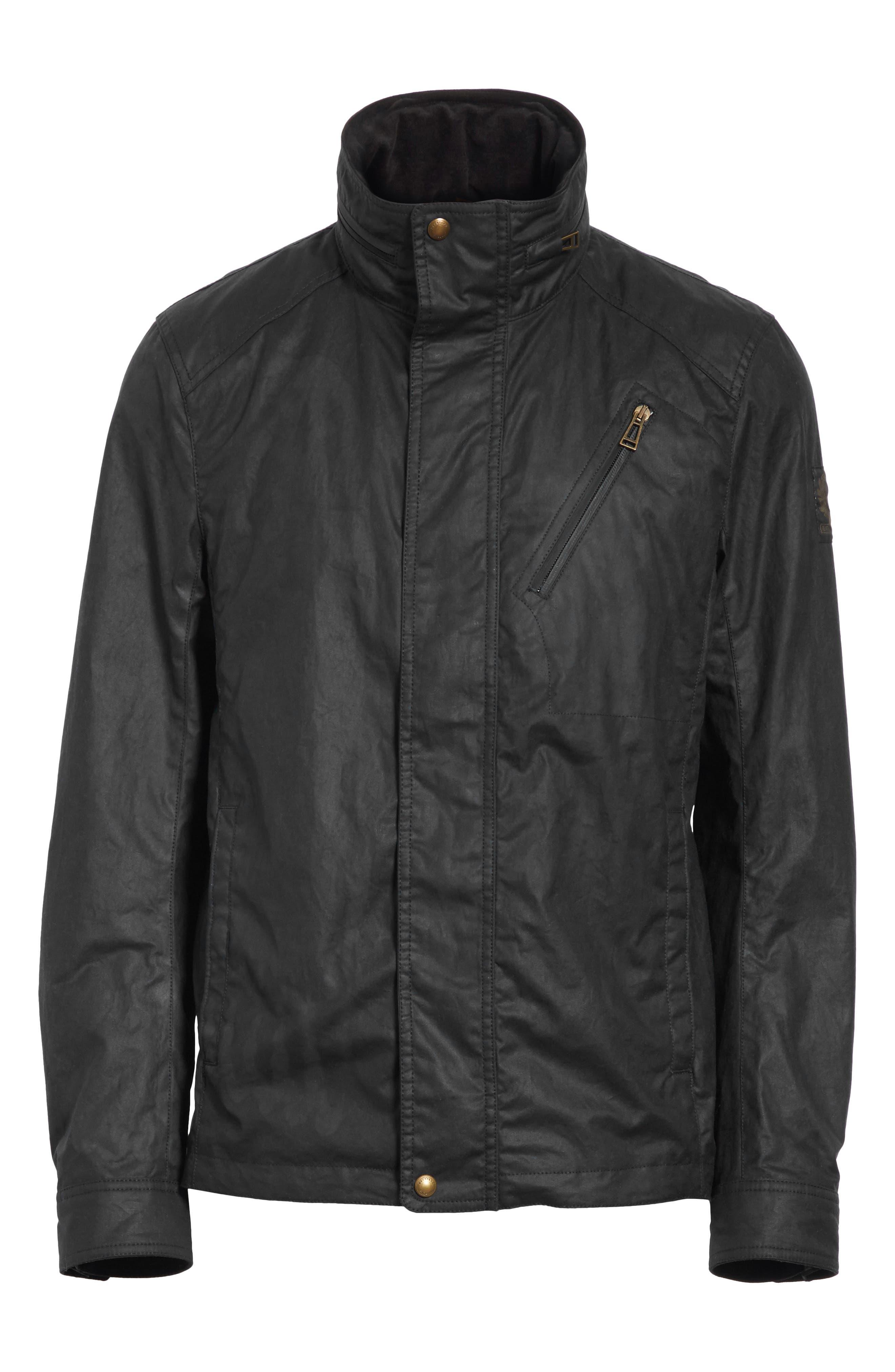 Citymaster 2 Waxed Cotton Moto Jacket,                             Alternate thumbnail 5, color,                             001