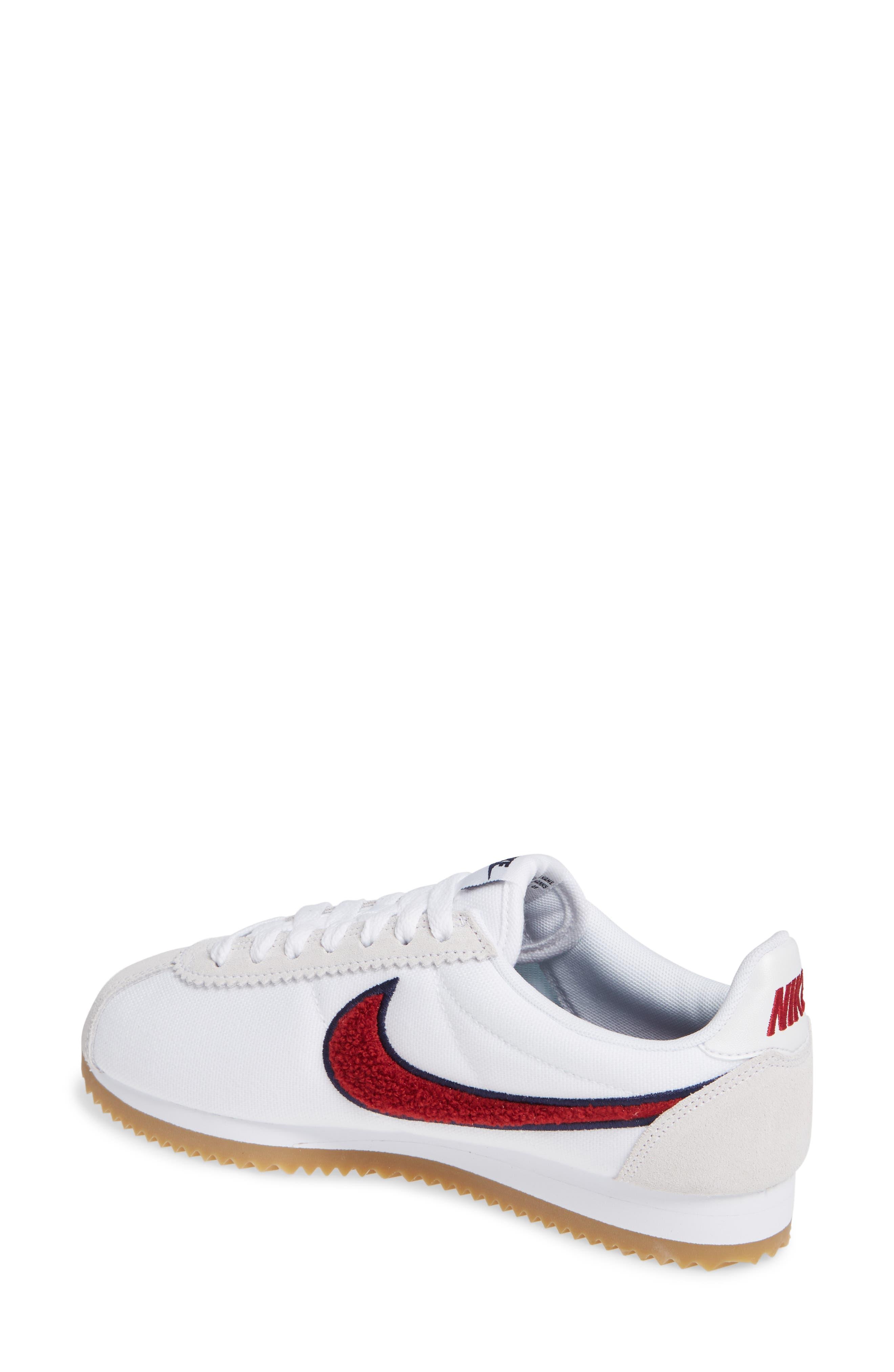 Classic Cortez Premium XLV Sneaker,                             Alternate thumbnail 2, color,                             WHITE/ RED CRUSH/ LIGHT BROWN