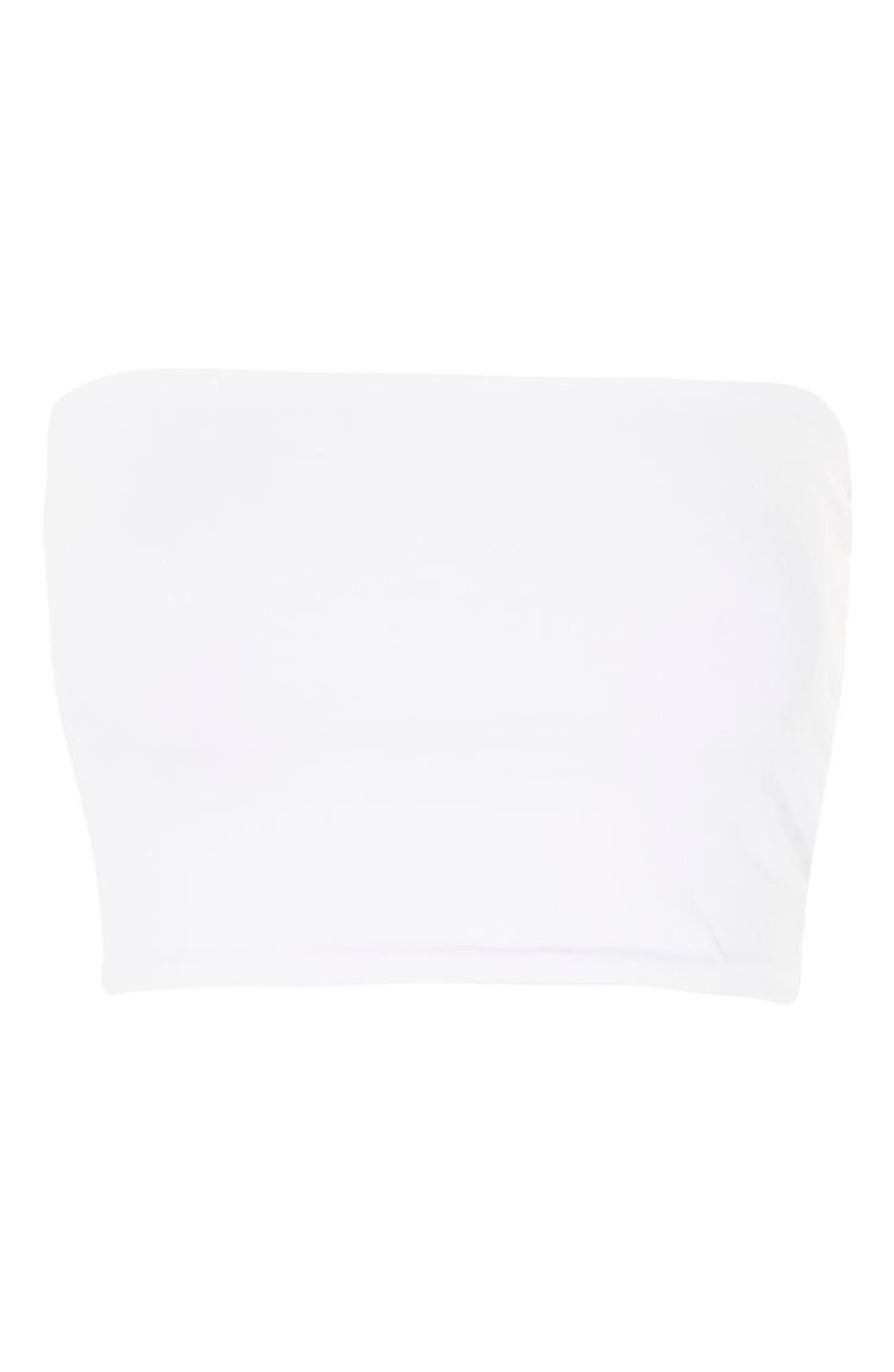 Solid Tube Top,                             Alternate thumbnail 3, color,                             WHITE