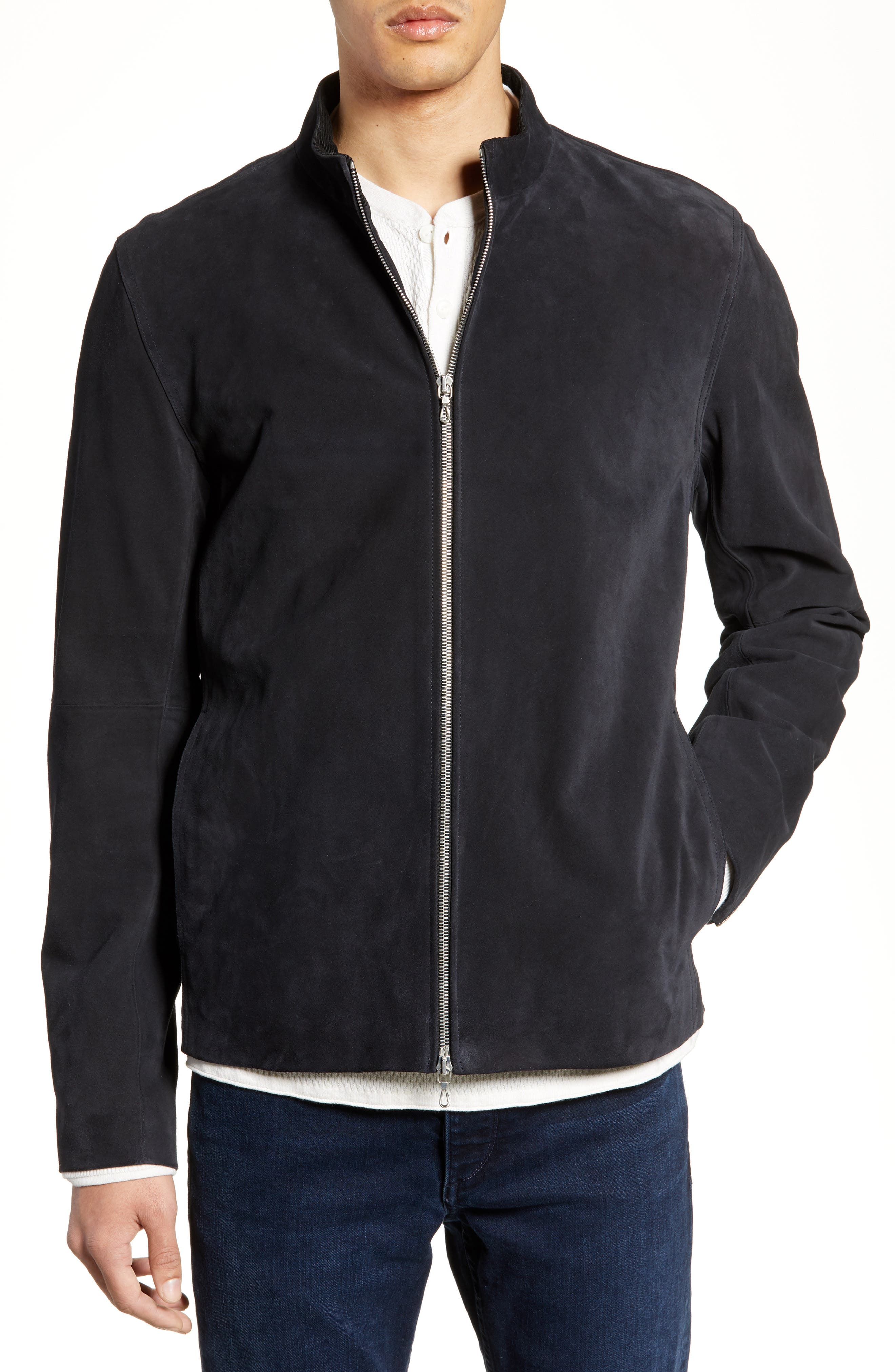 Rag & Bone Agnes Suede Jacket, Blue