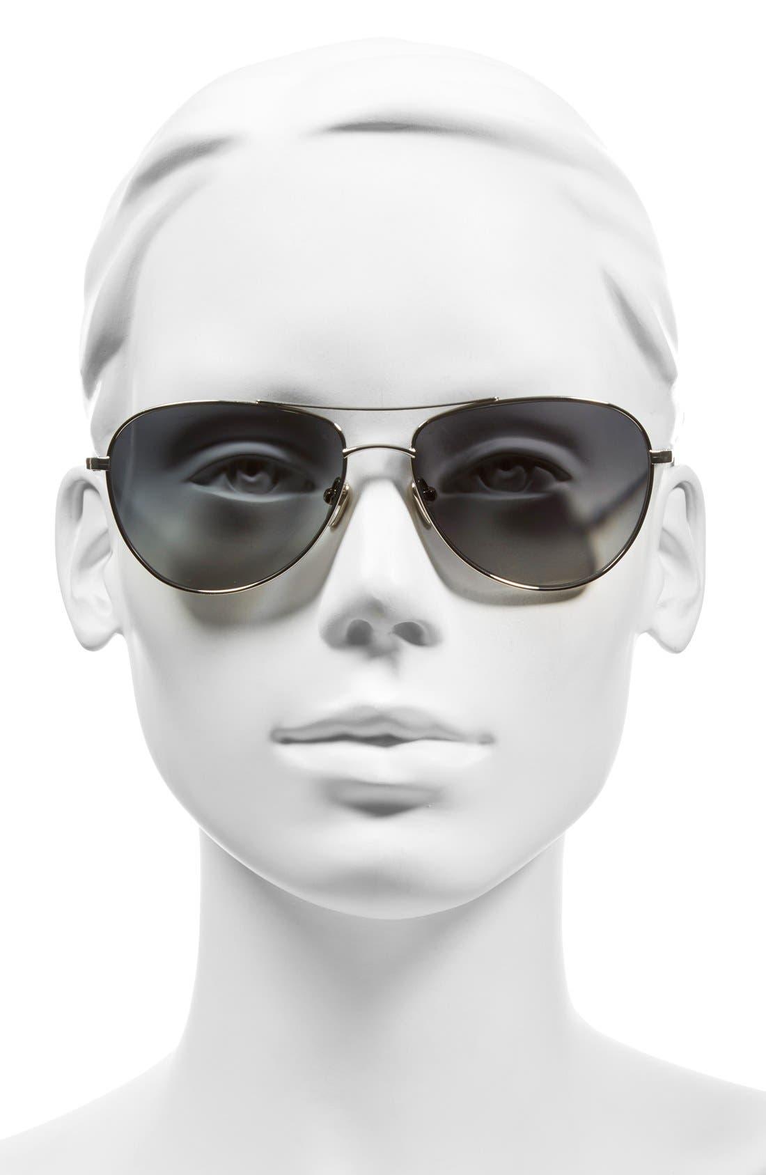 'Pratt' 57mm Aviator Sunglasses,                             Alternate thumbnail 2, color,                             040