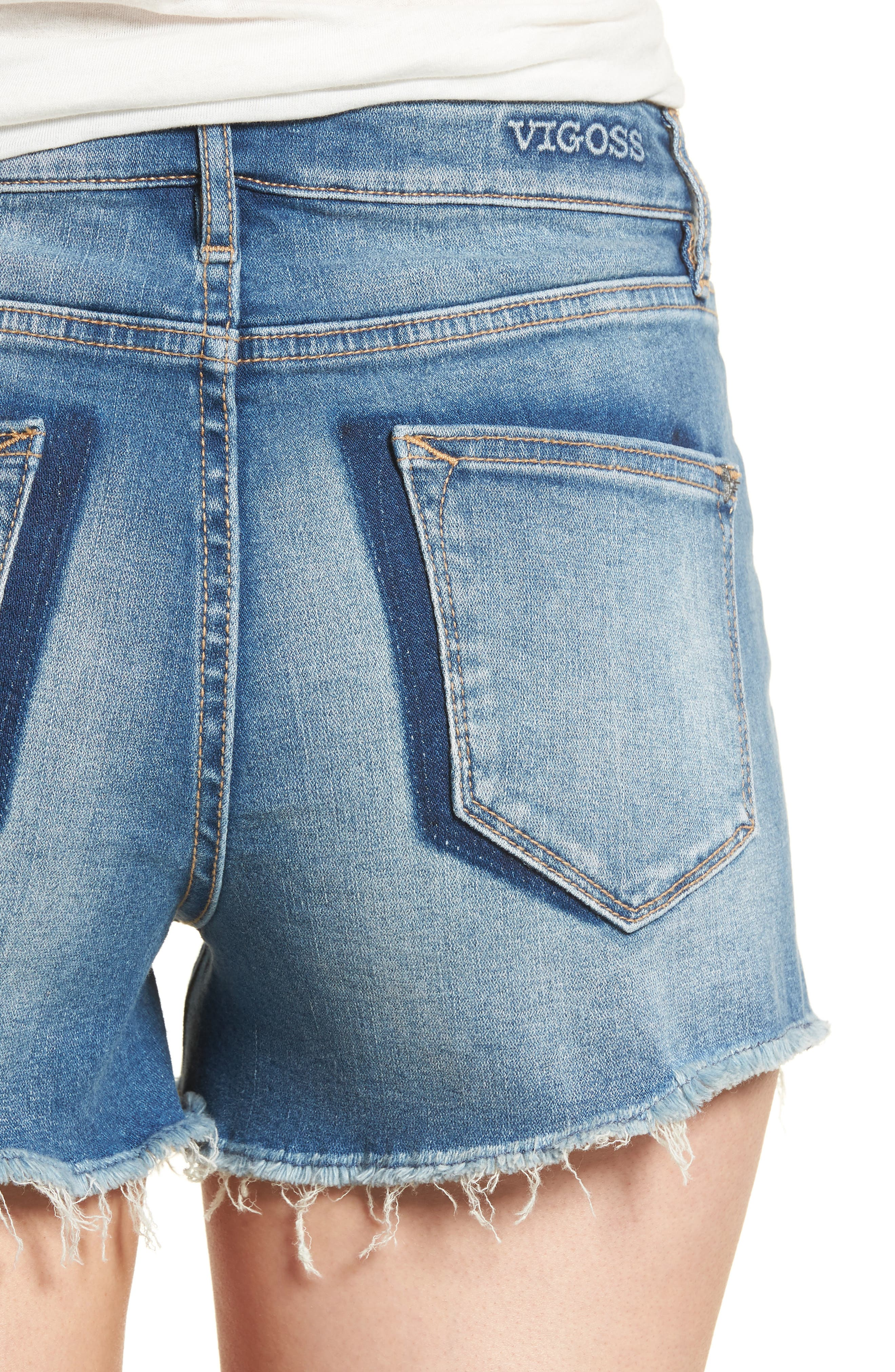 Jagger Shadow Pocket Denim Shorts,                             Alternate thumbnail 4, color,                             461