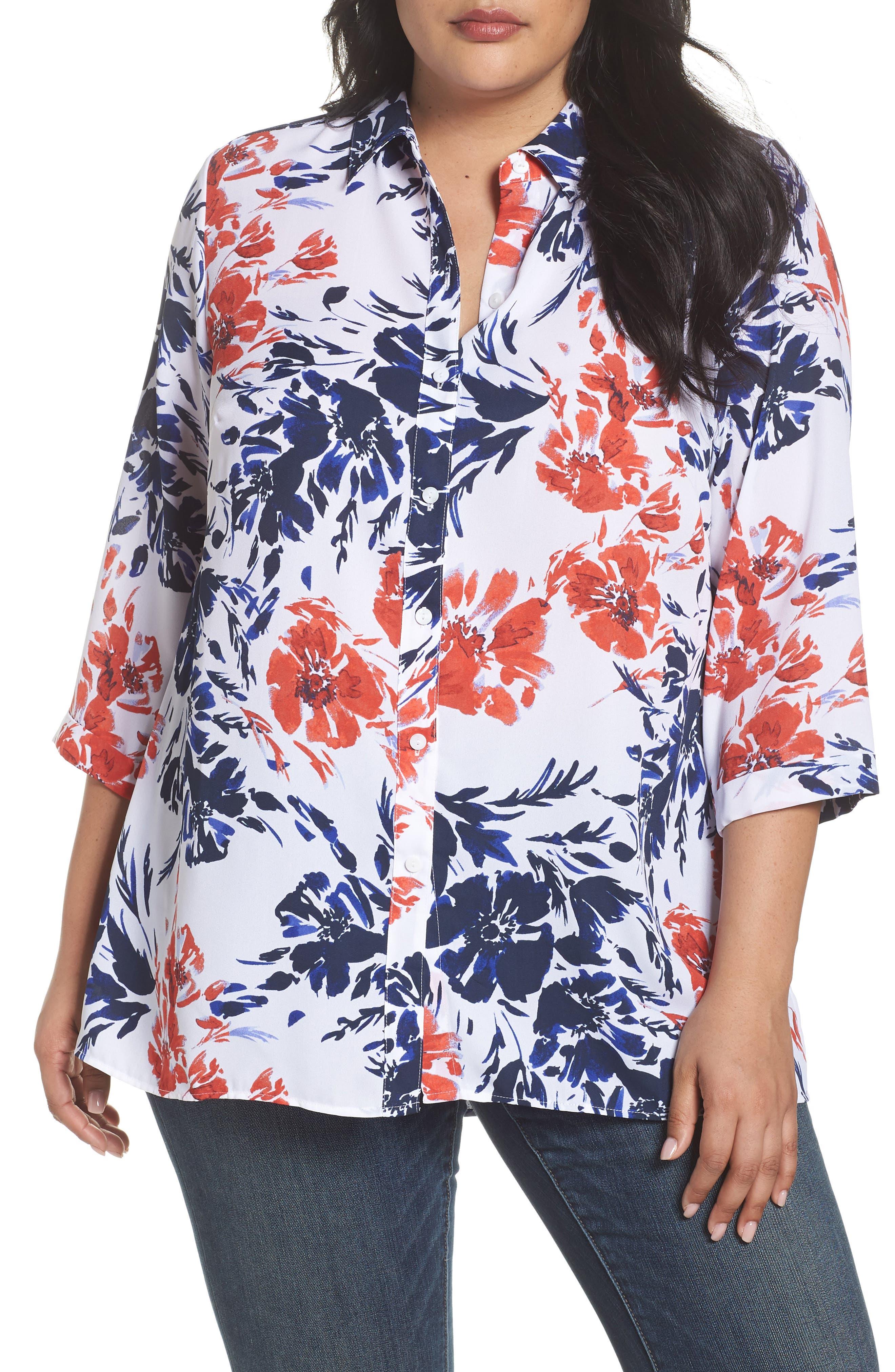 Gigi Breezy Floral Top,                         Main,                         color,