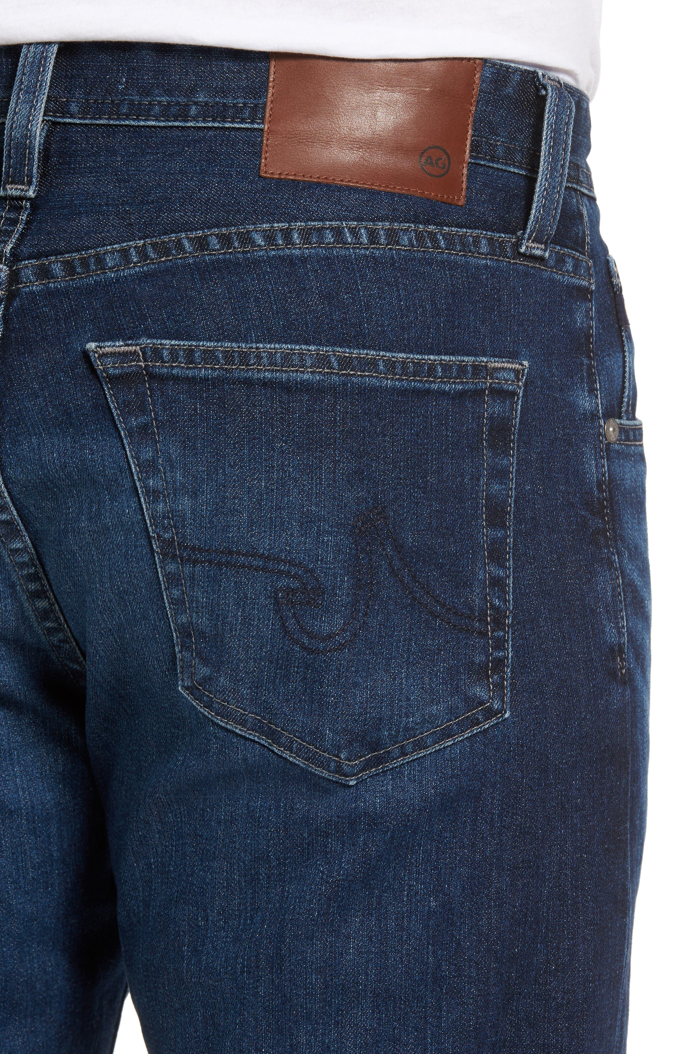 Ives Straight Leg Jeans,                             Alternate thumbnail 4, color,                             438