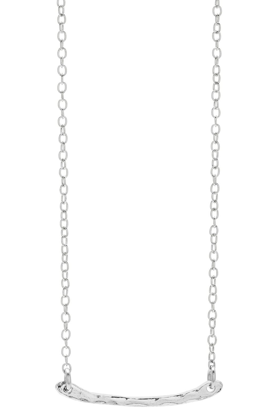 GORJANA 'Taner' Bar Mini Pendant Necklace, Main, color, 040