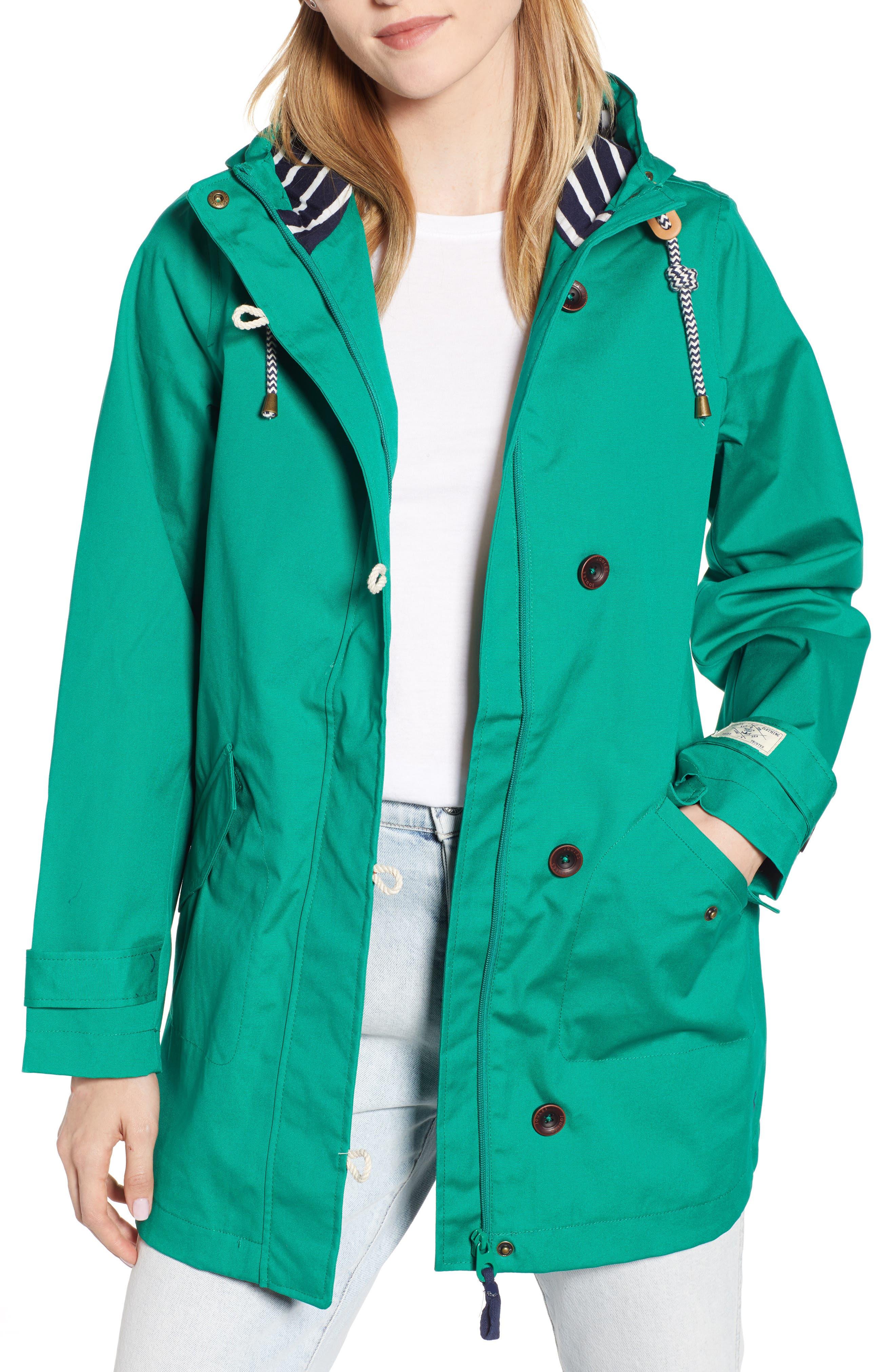 Coast Waterproof Hooded Jacket,                             Main thumbnail 1, color,                             GREEN