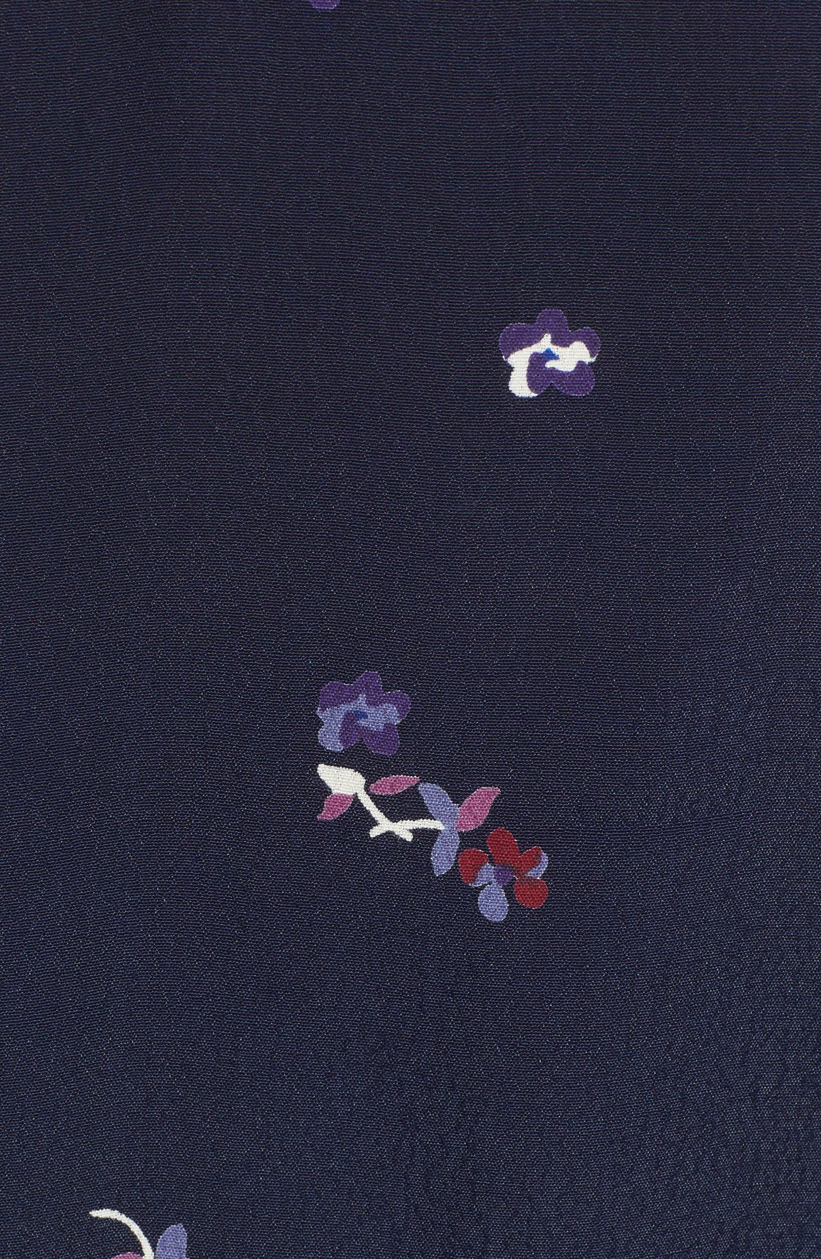 RAILS,                             Simone Floral Ruffle Wrap Blouse,                             Alternate thumbnail 5, color,                             NAVY KYOTO FLORAL