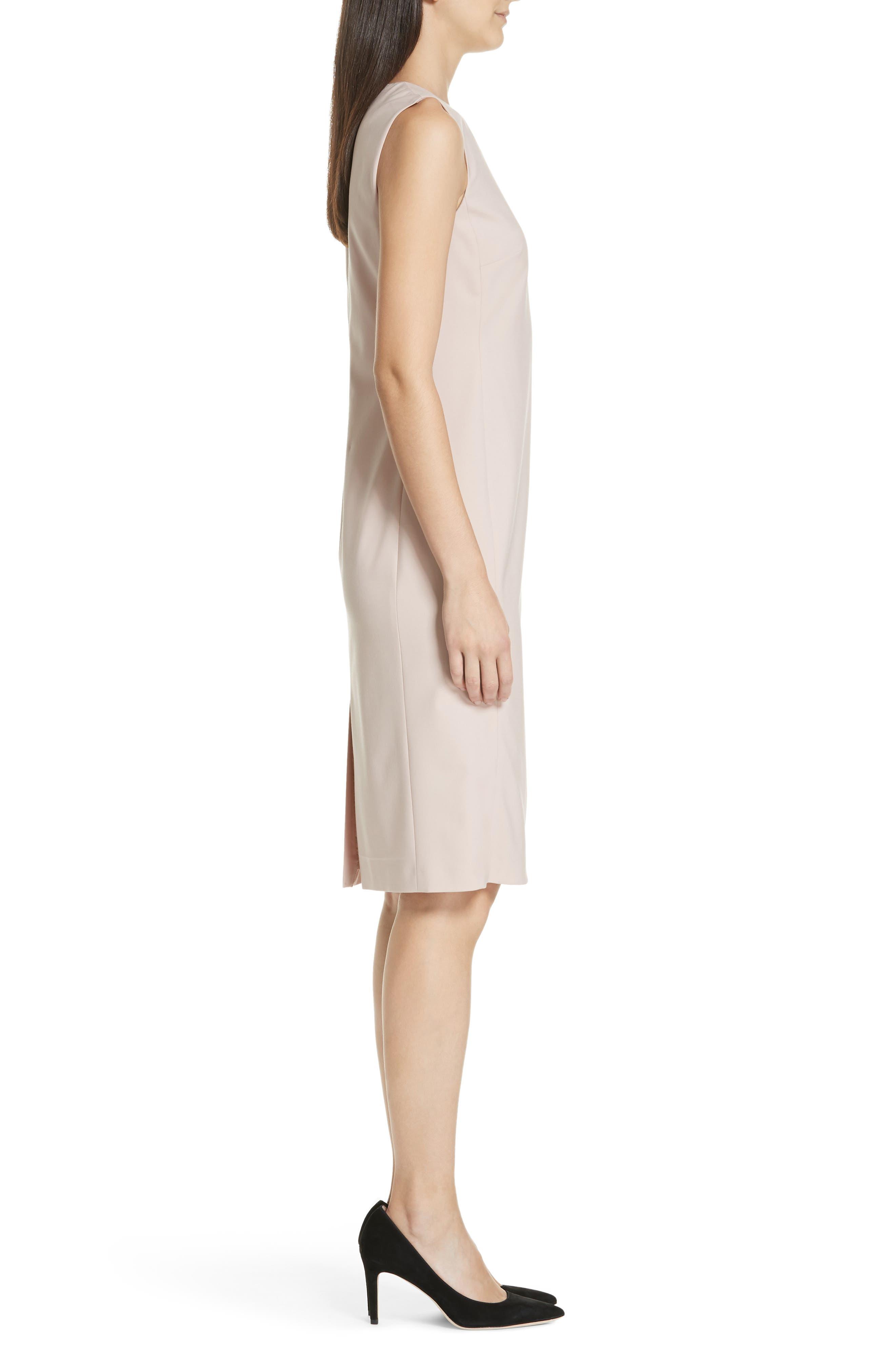 Eano Good Wool Sheath Dress,                             Alternate thumbnail 3, color,                             650