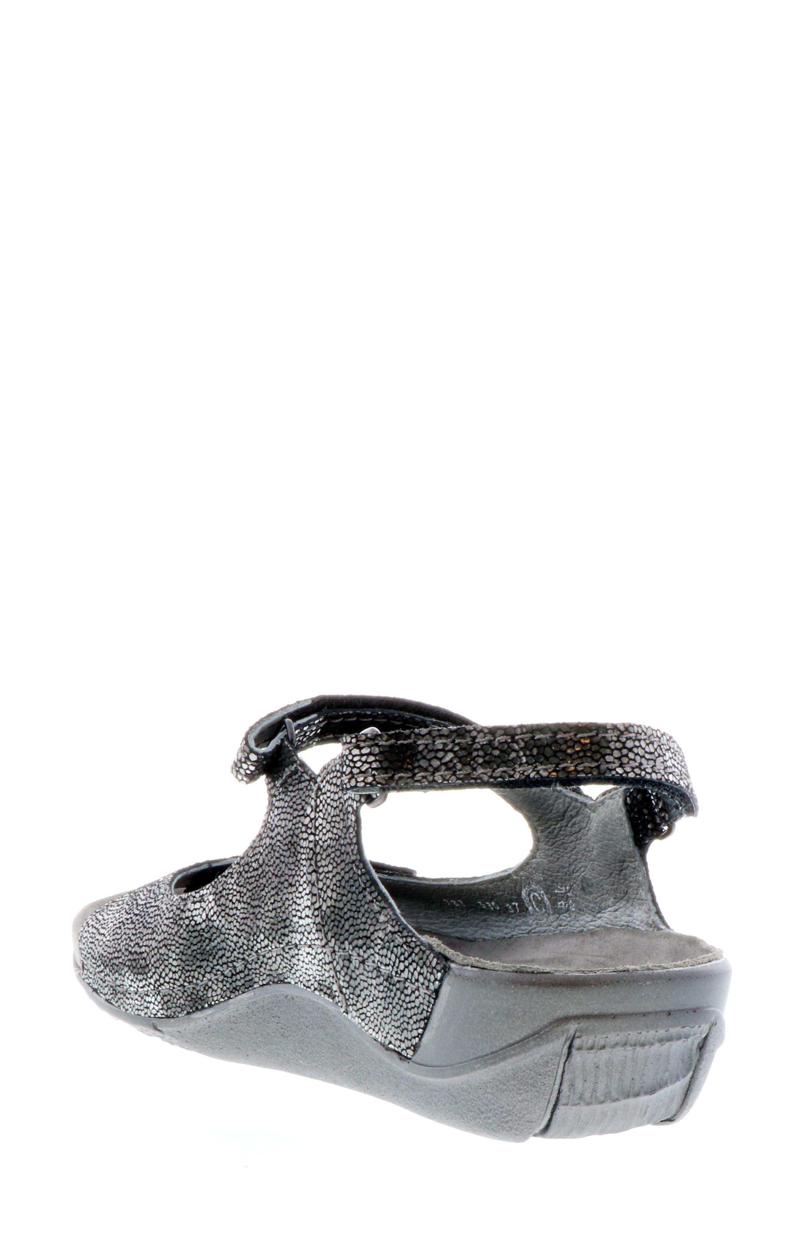 Cortez Sandal,                             Alternate thumbnail 2, color,                             BLACK LEATHER