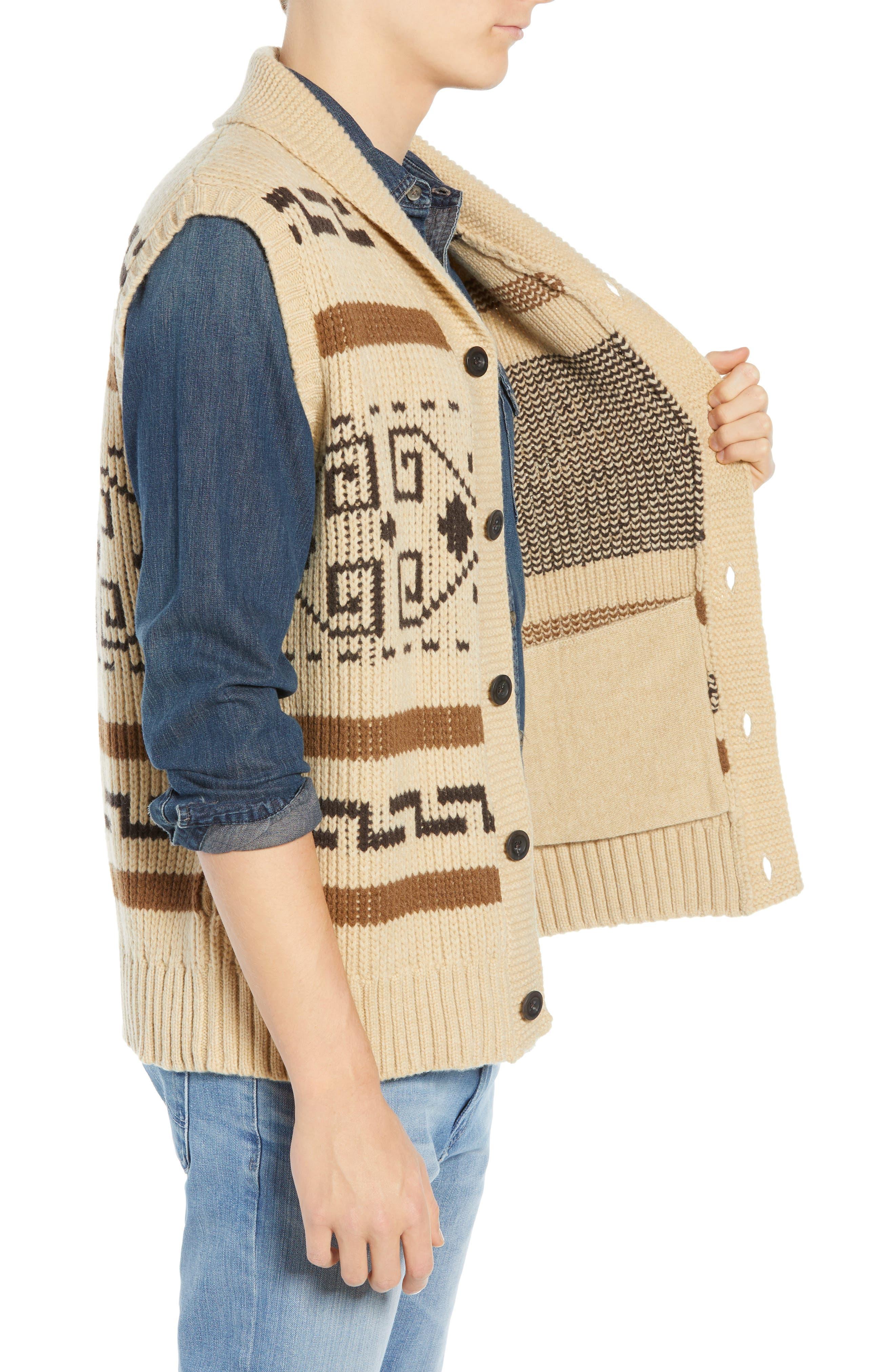 Original Westerley Sweater Vest,                             Alternate thumbnail 3, color,                             TAN/ BROWN