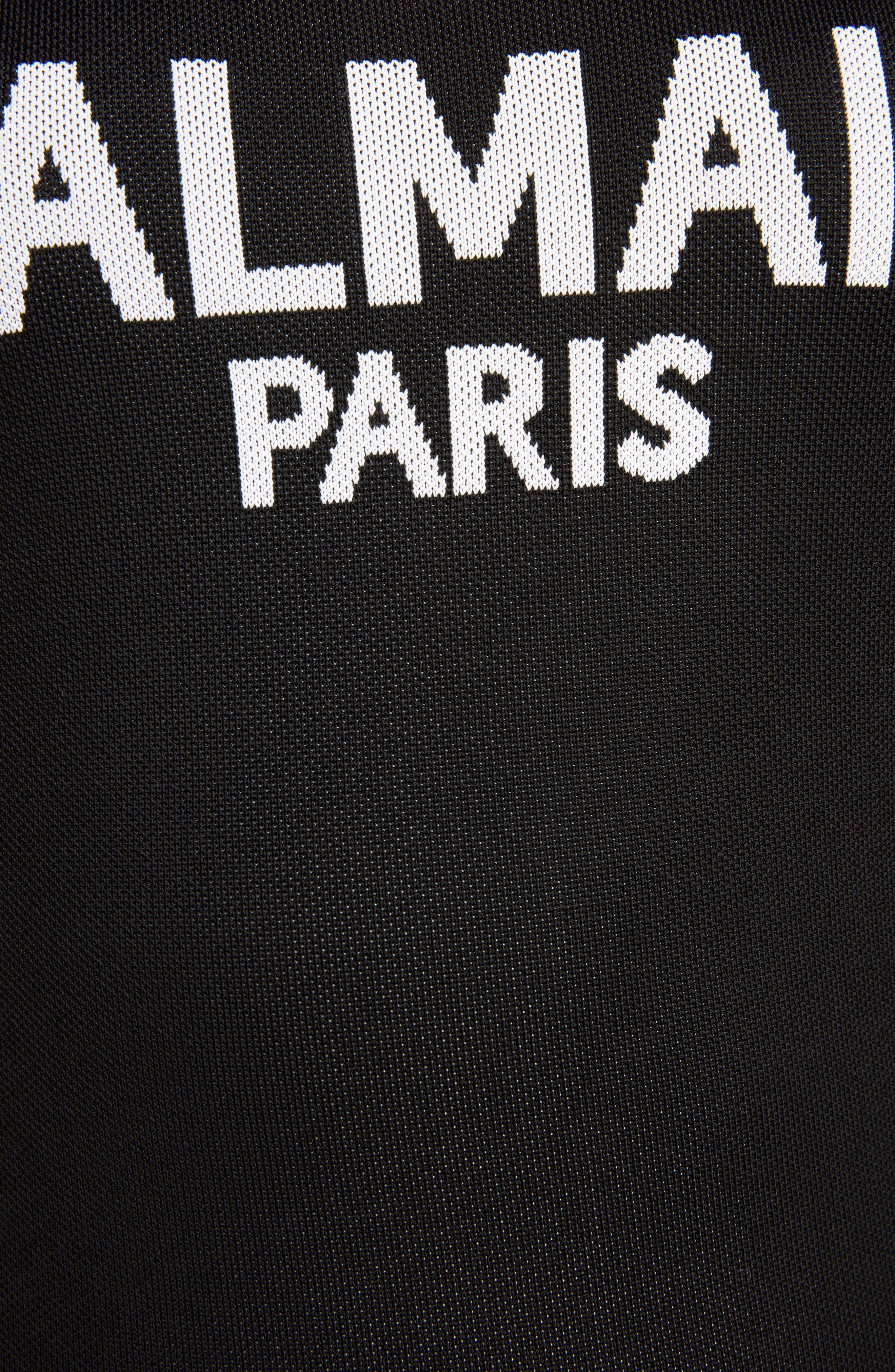 Logo Bodysuit,                             Alternate thumbnail 4, color,                             BLACK/ WHITE