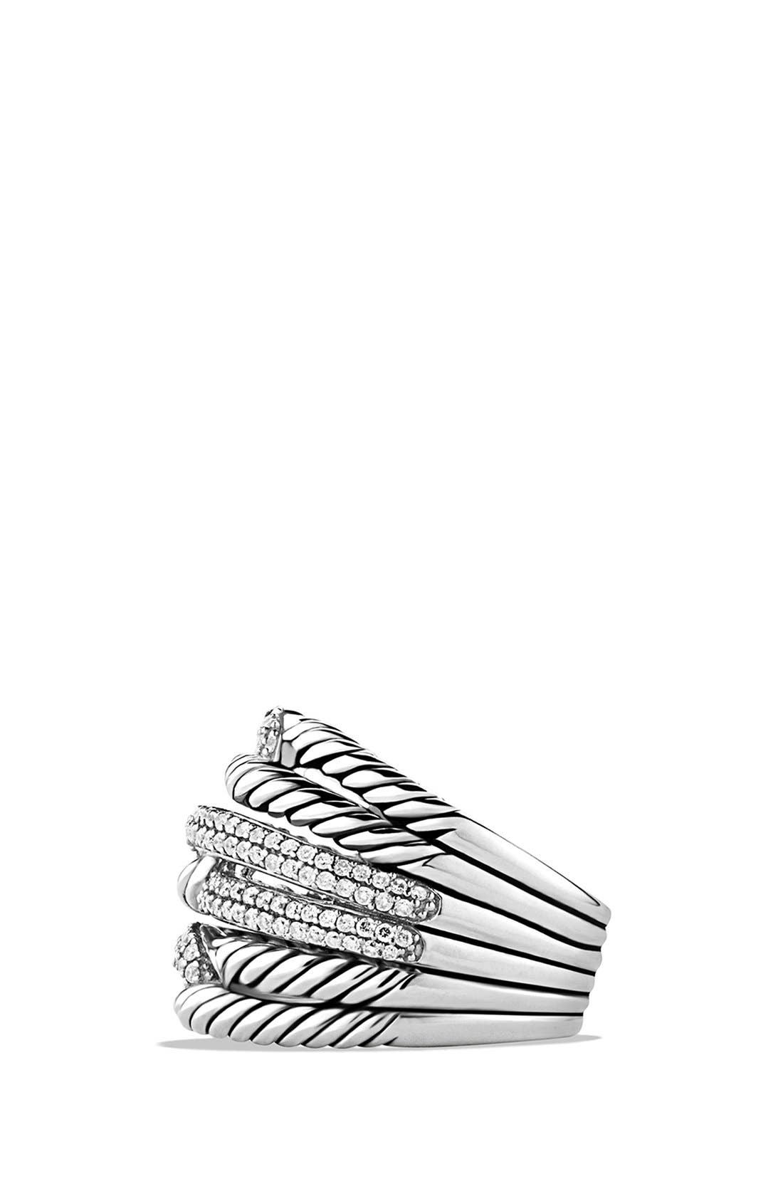 'Labyrinth' Triple-Loop Ring with Diamonds,                             Alternate thumbnail 3, color,                             DIAMOND