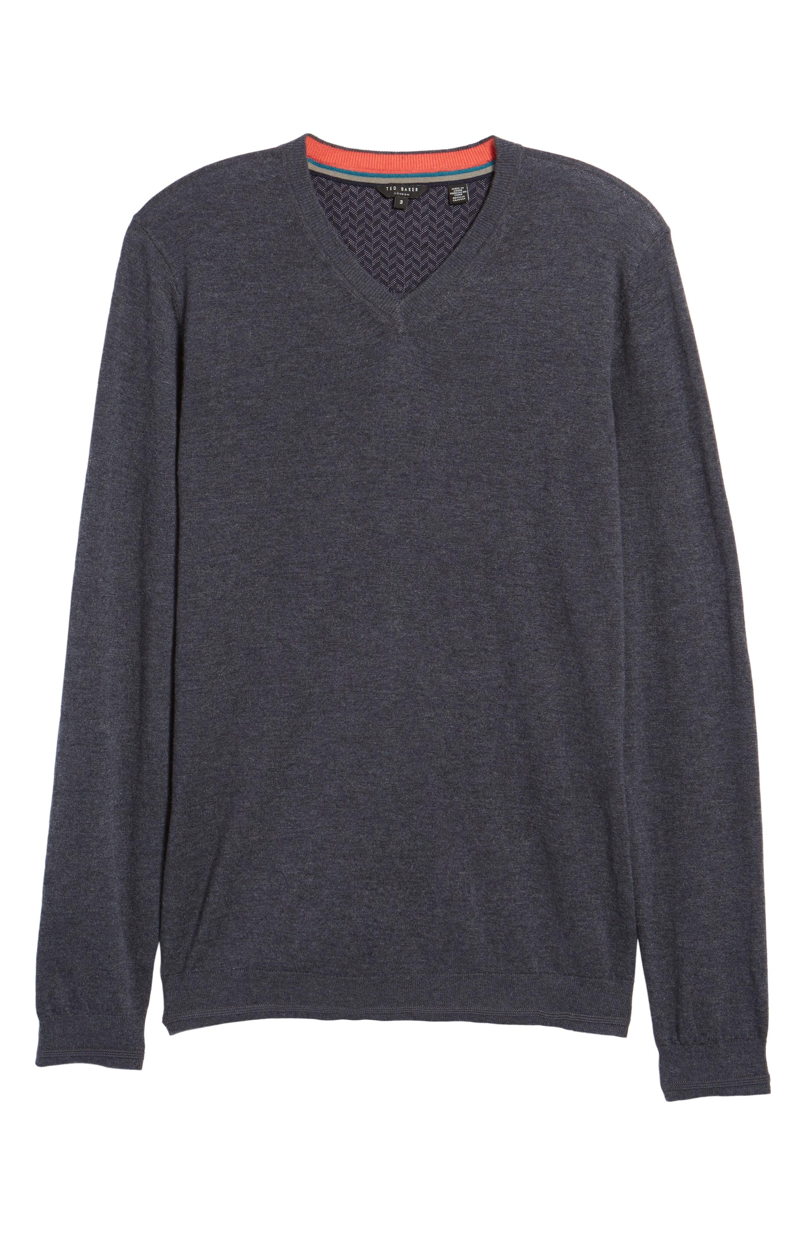 V-Neck Sweater,                             Alternate thumbnail 22, color,