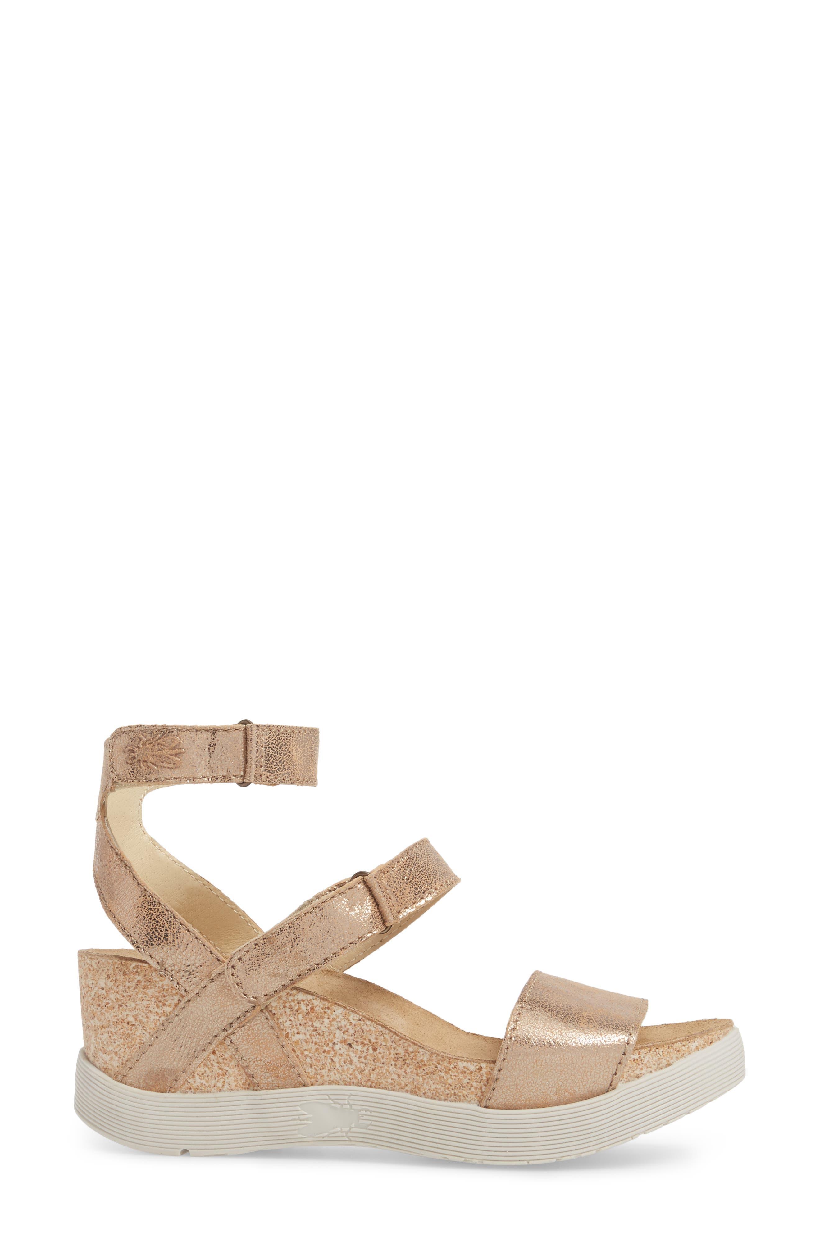 Wink Platform Sandal,                             Alternate thumbnail 3, color,                             LUNA COOL LEATHER