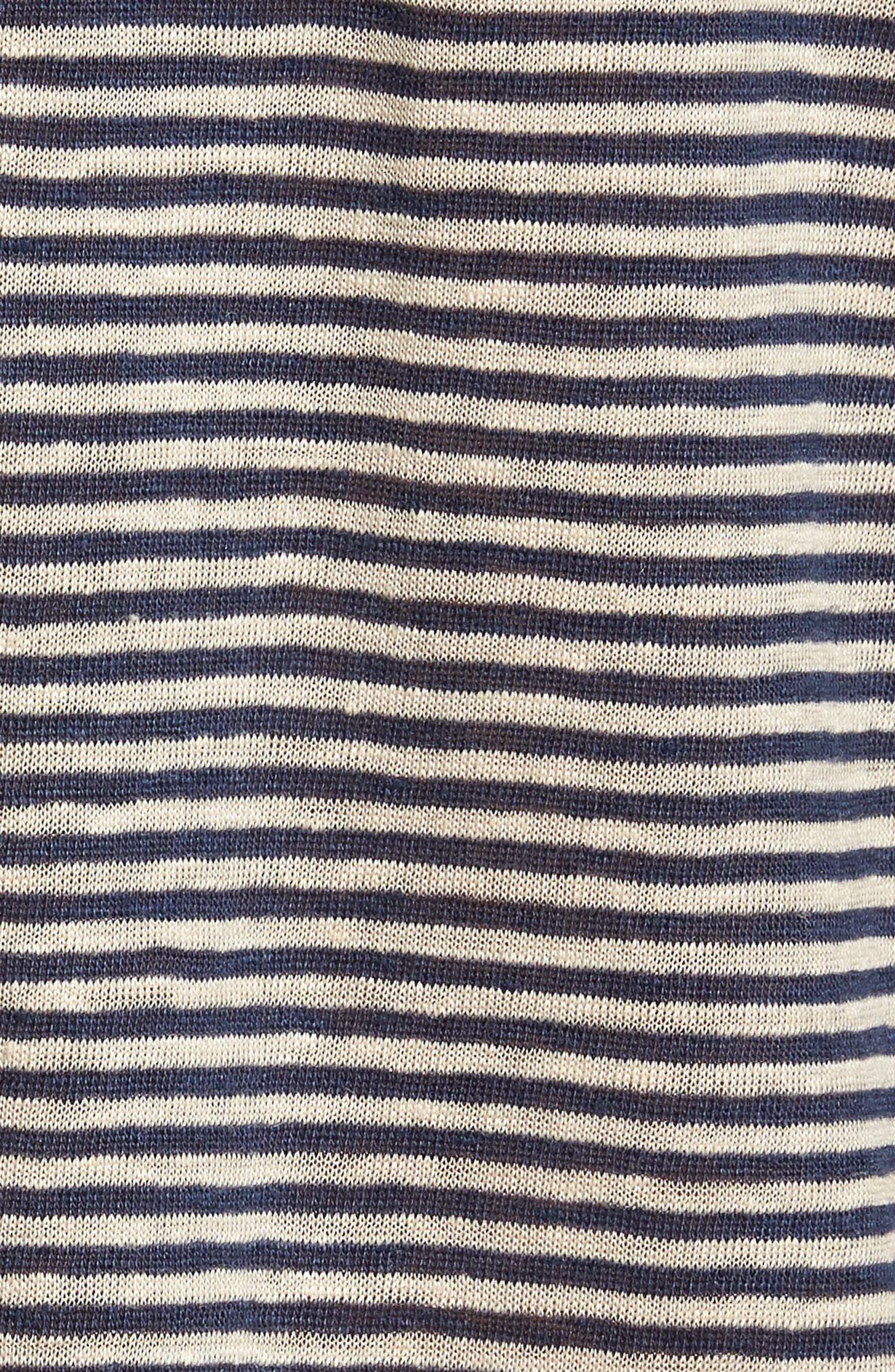 Johnny Stripe Linen Polo Shirt,                             Alternate thumbnail 5, color,                             410