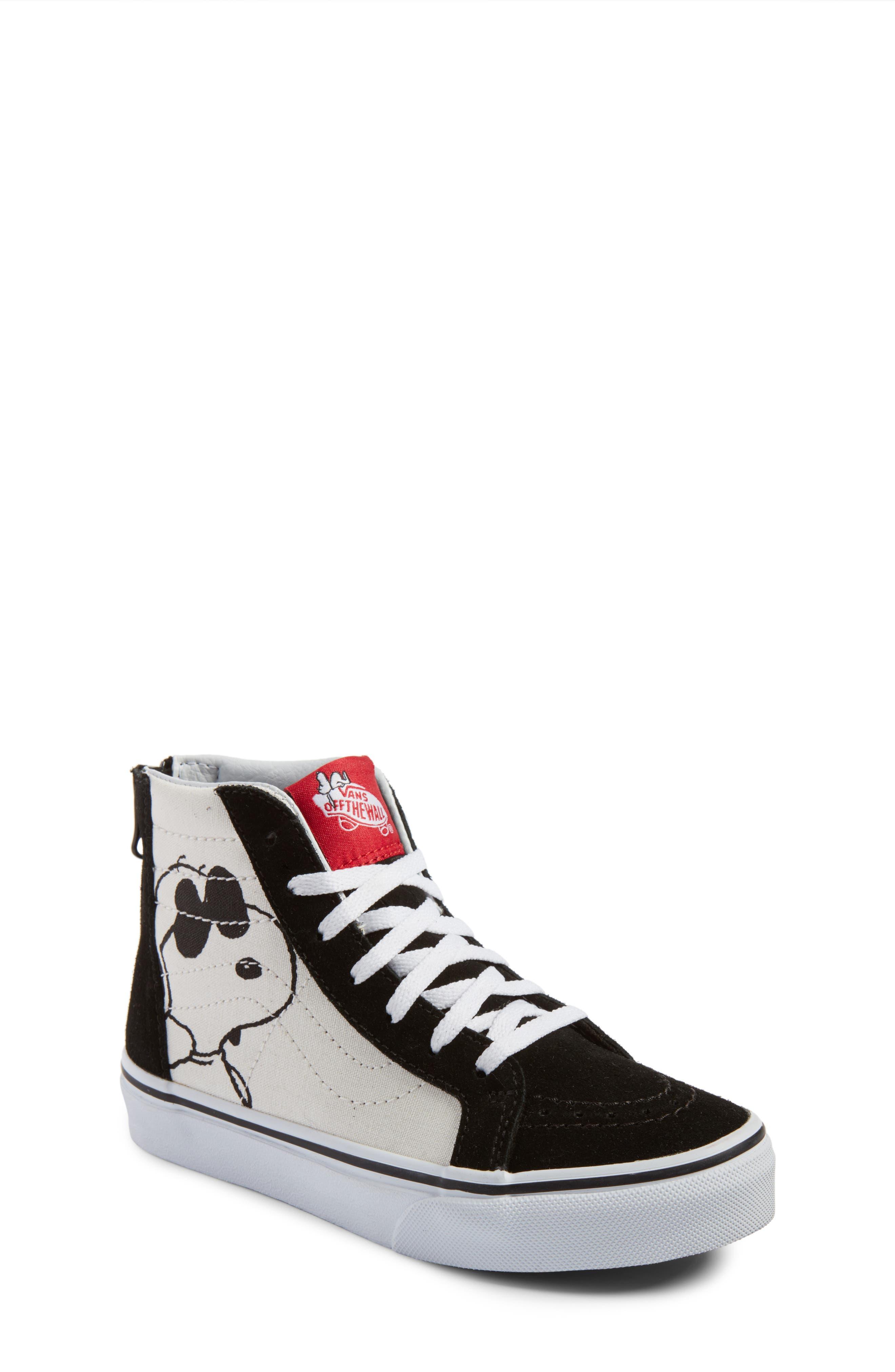 x Peanuts SK8-Hi Sneaker,                             Main thumbnail 1, color,                             001