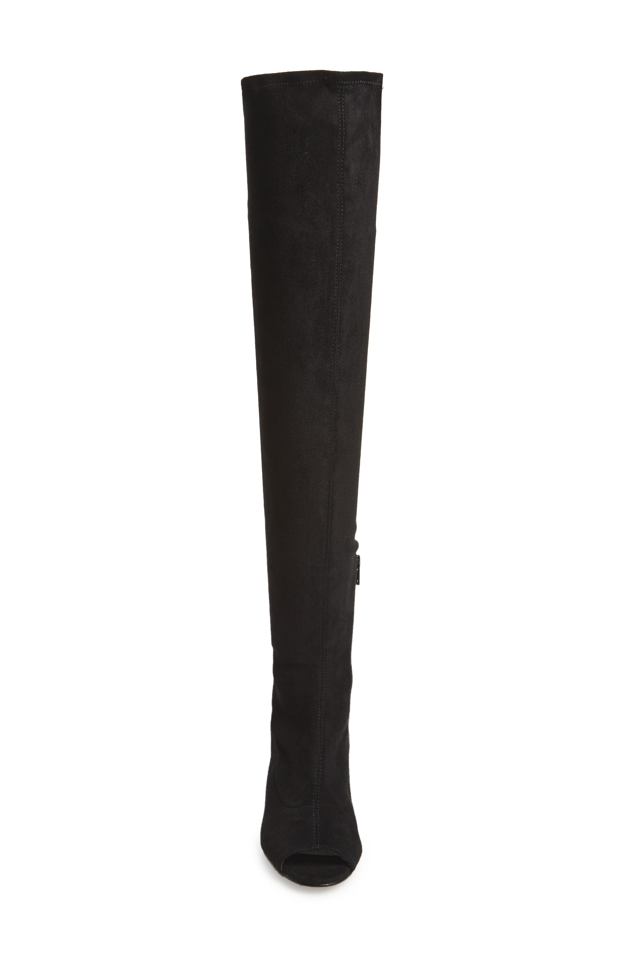 Robyn Cutout Over the Knee Boot,                             Alternate thumbnail 4, color,                             001