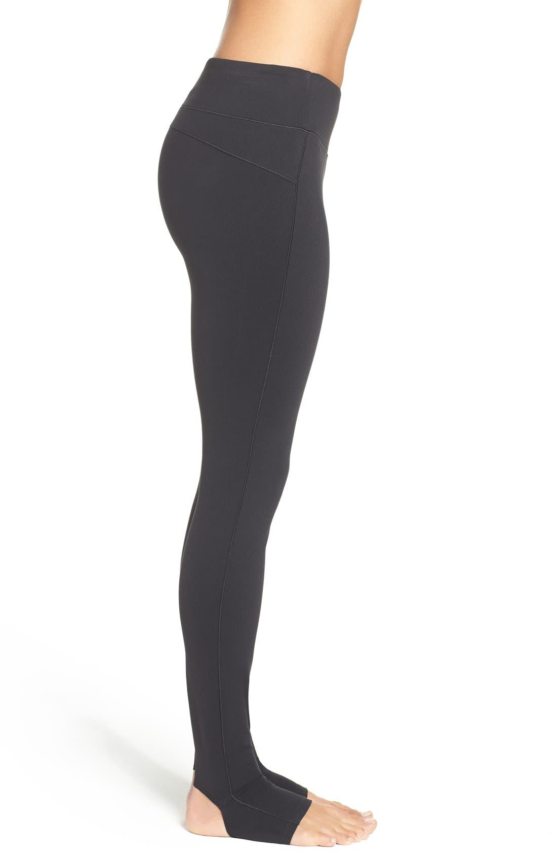 Foiled Stirrup Tights,                             Alternate thumbnail 3, color,                             001