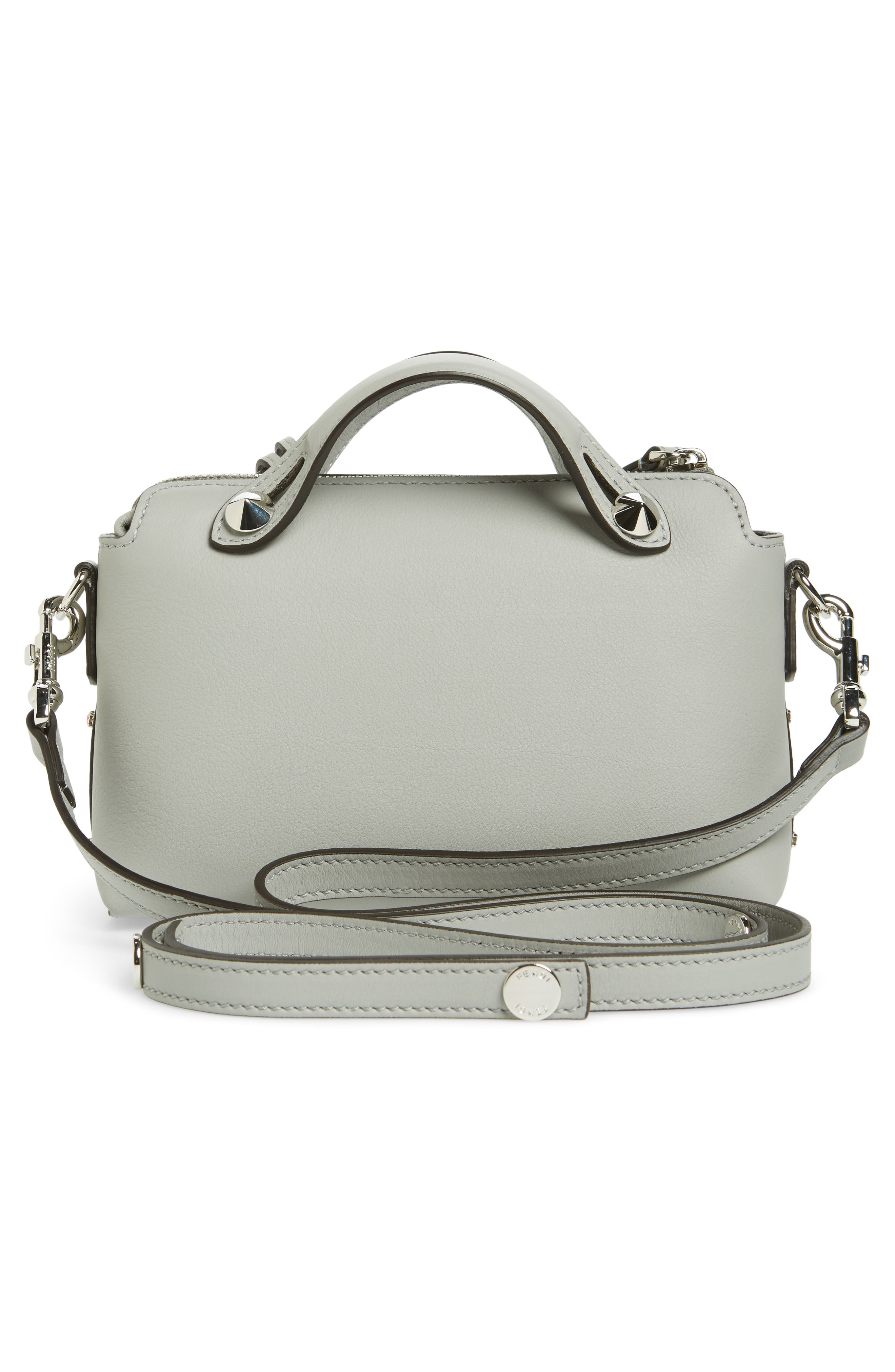 Mini By the Way Crystal Embellished Convertible Leather Crossbody Bag,                             Alternate thumbnail 3, color,                             050
