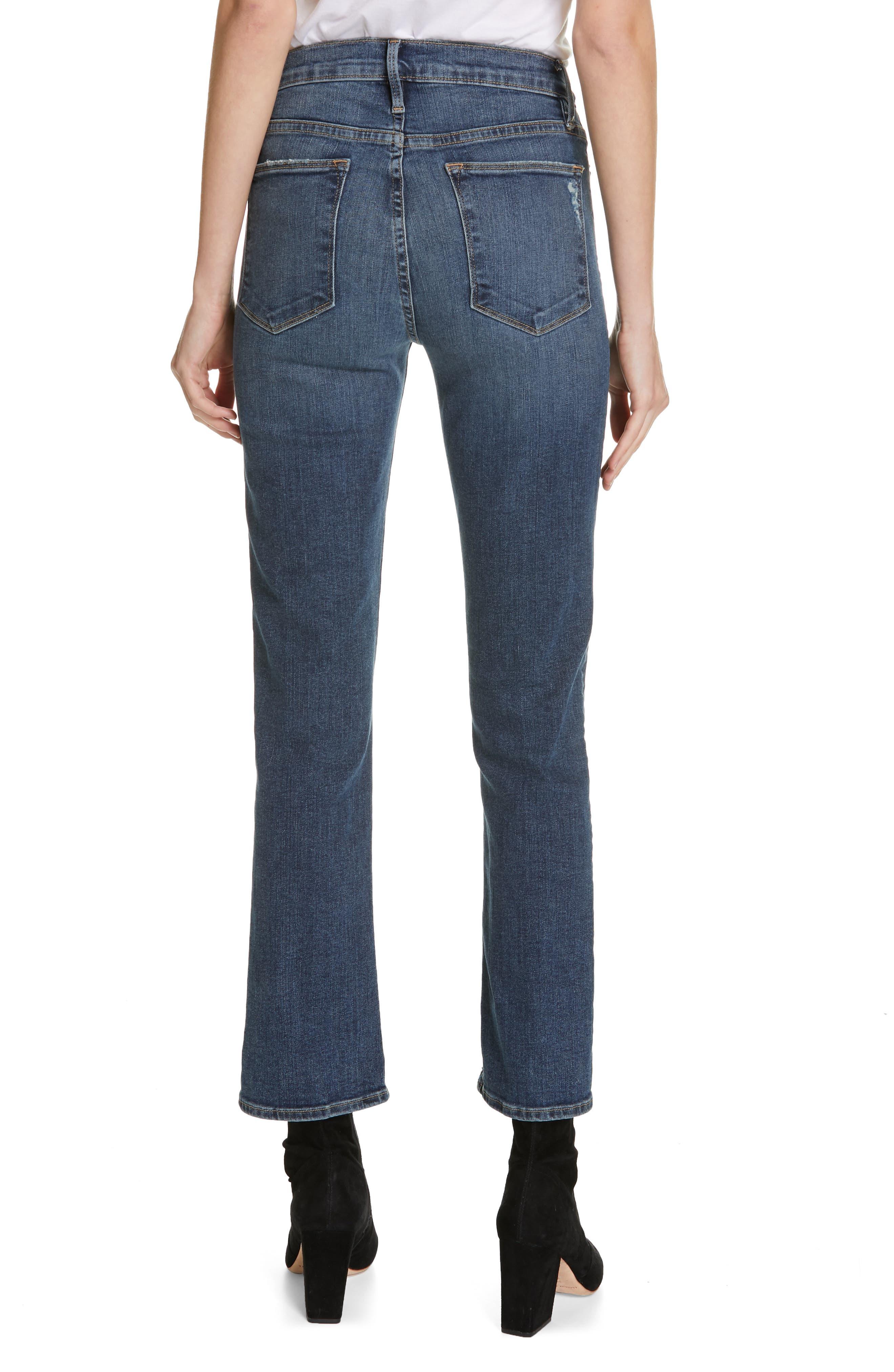 FRAME,                             Le High Straight Curve Hem Jeans,                             Alternate thumbnail 2, color,                             RUE