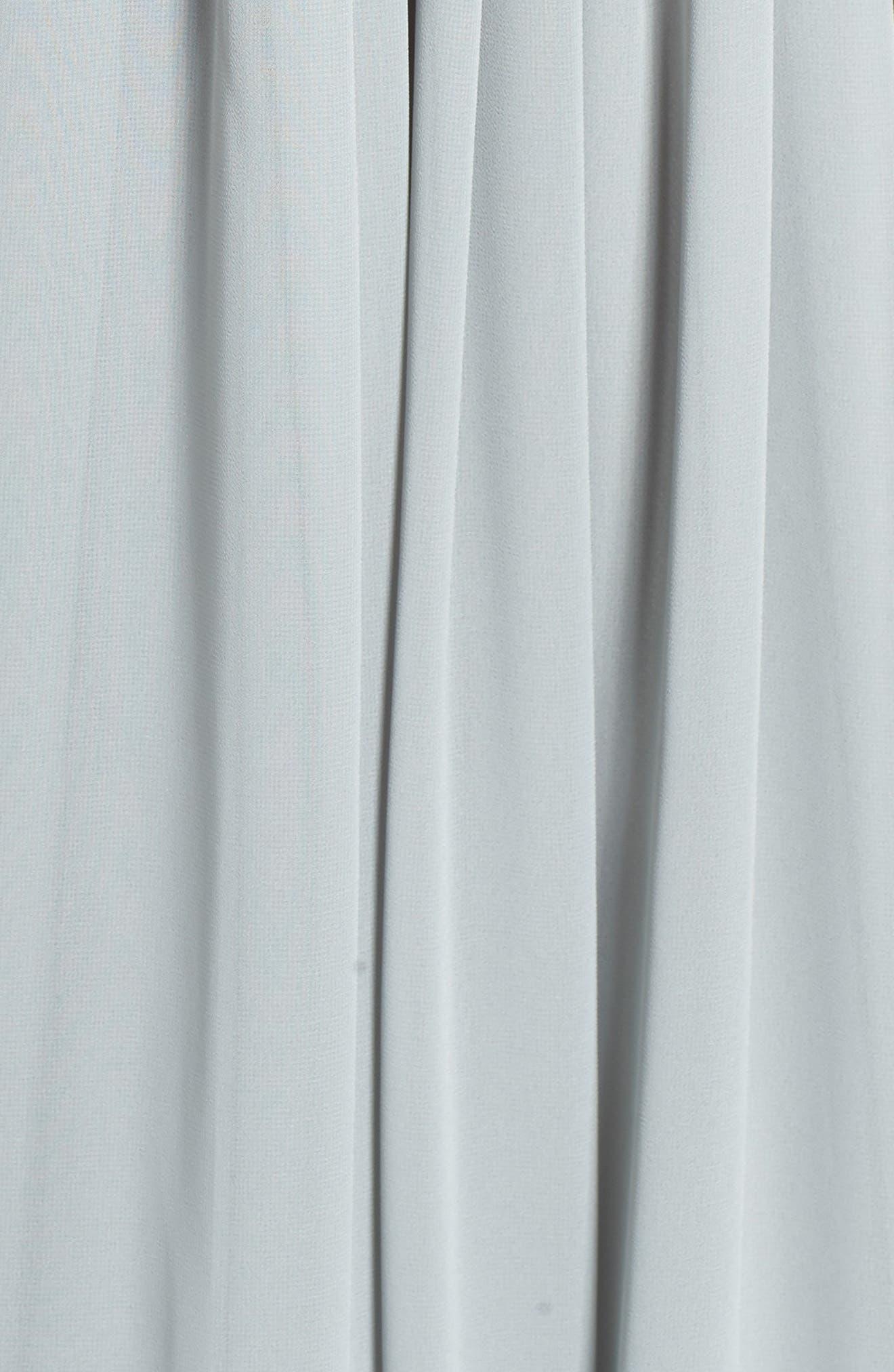 Deep V-Neck Ruffle Pleat Chiffon Gown,                             Alternate thumbnail 27, color,