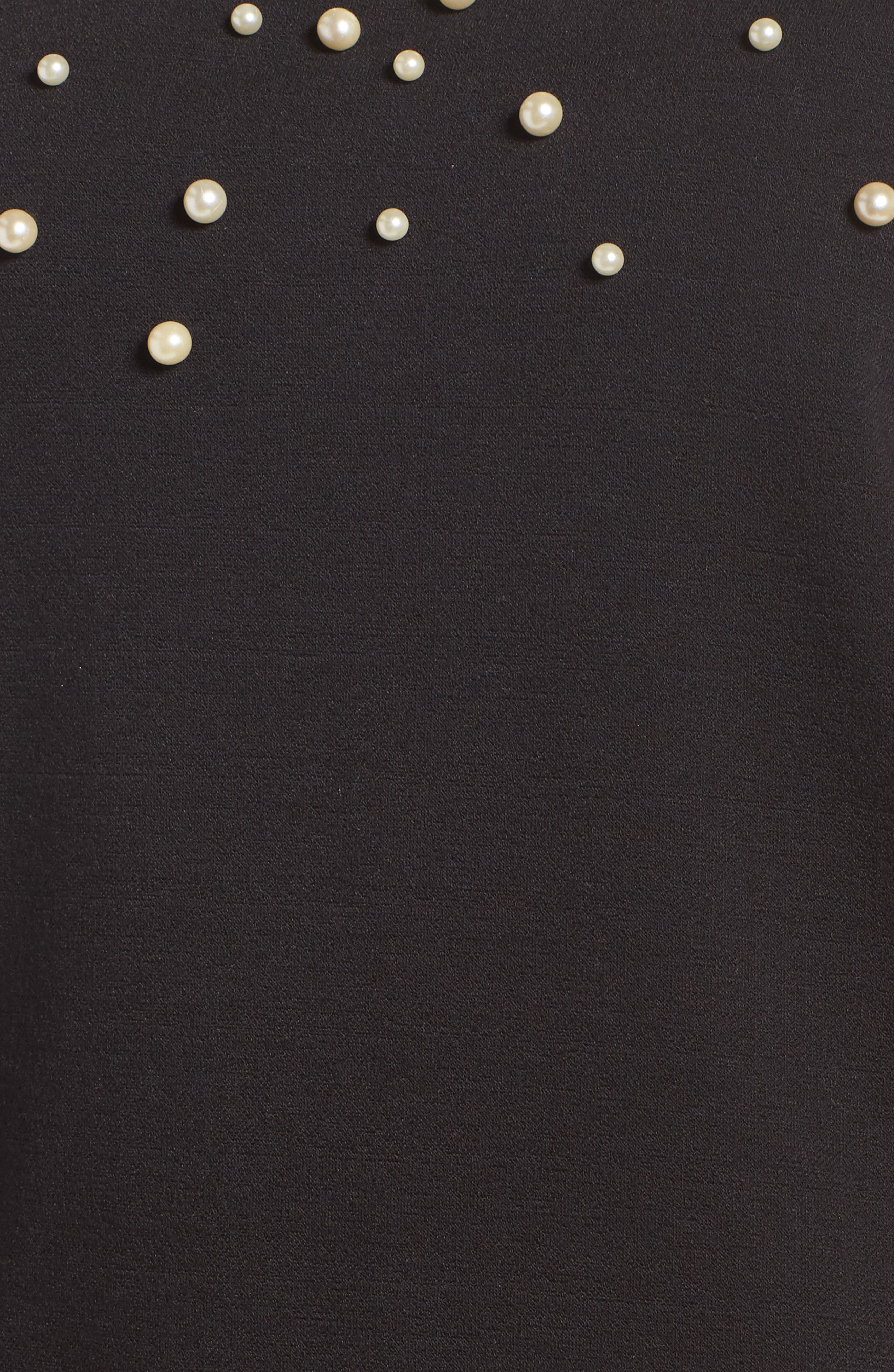 Oswald Imitation Pearl Embellished Sweatshirt,                             Alternate thumbnail 5, color,                             001